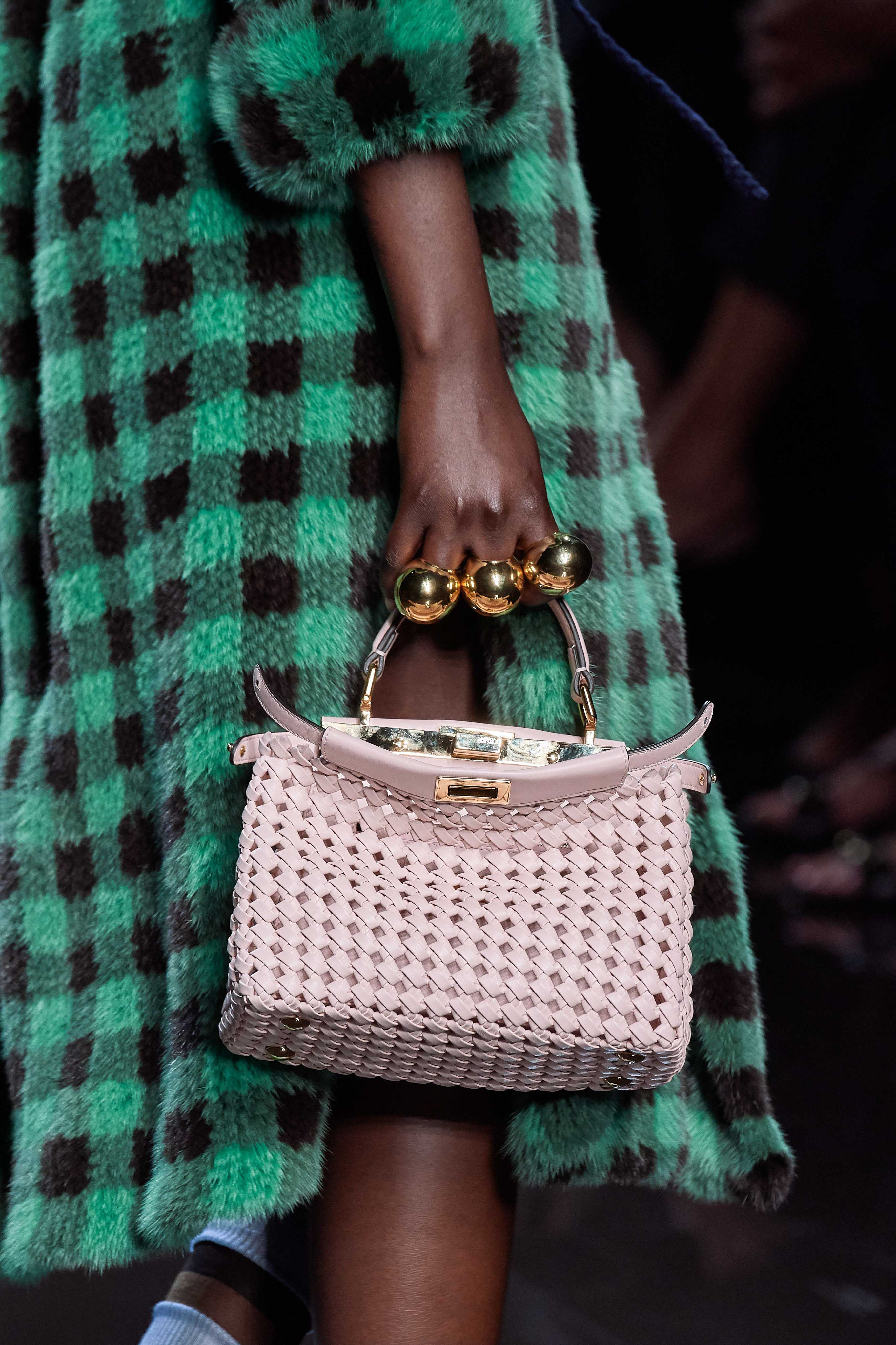 Fendi Spring Summer 2020 SS2020 trends runway coverage Ready To Wear Vogue bag and ring