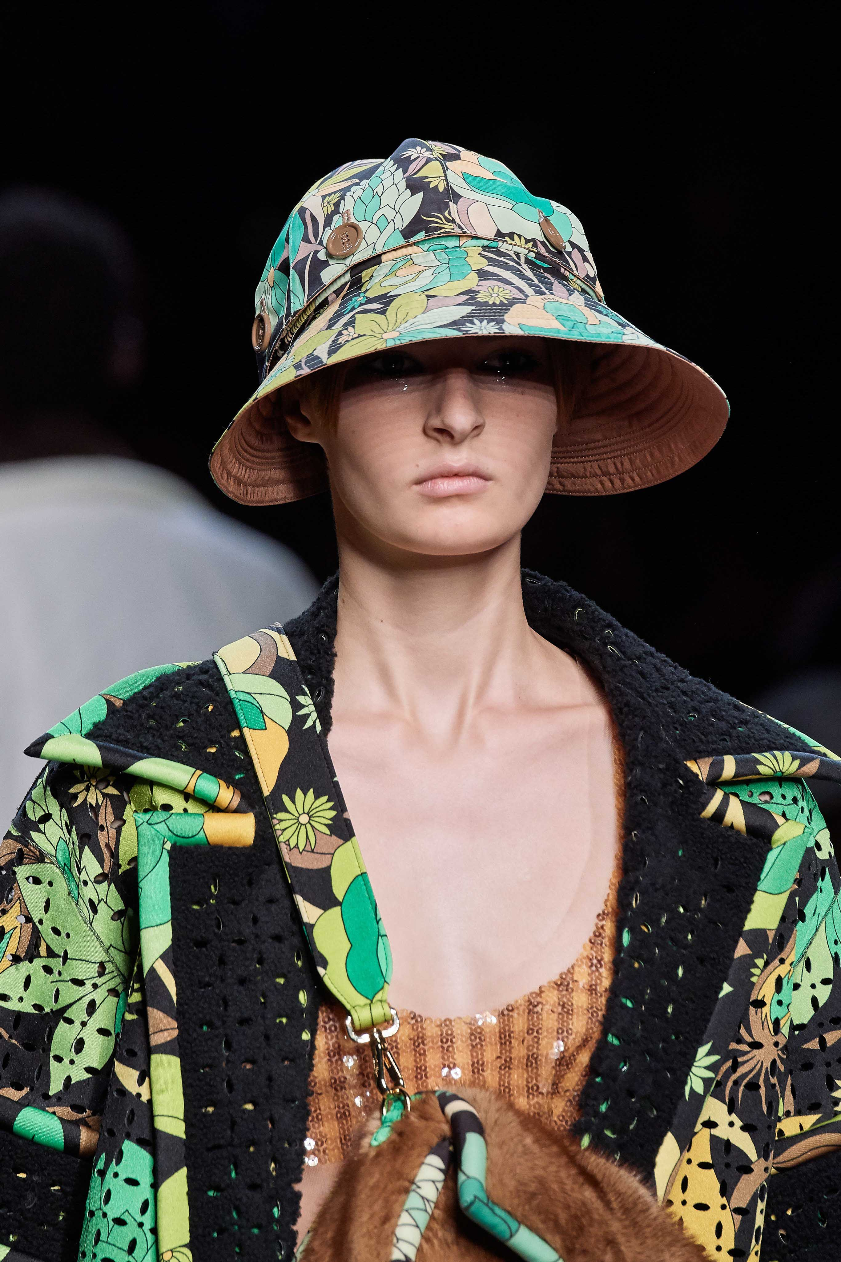 Fendi Spring Summer 2020 SS2020 trends runway coverage Ready To Wear Vogue hat