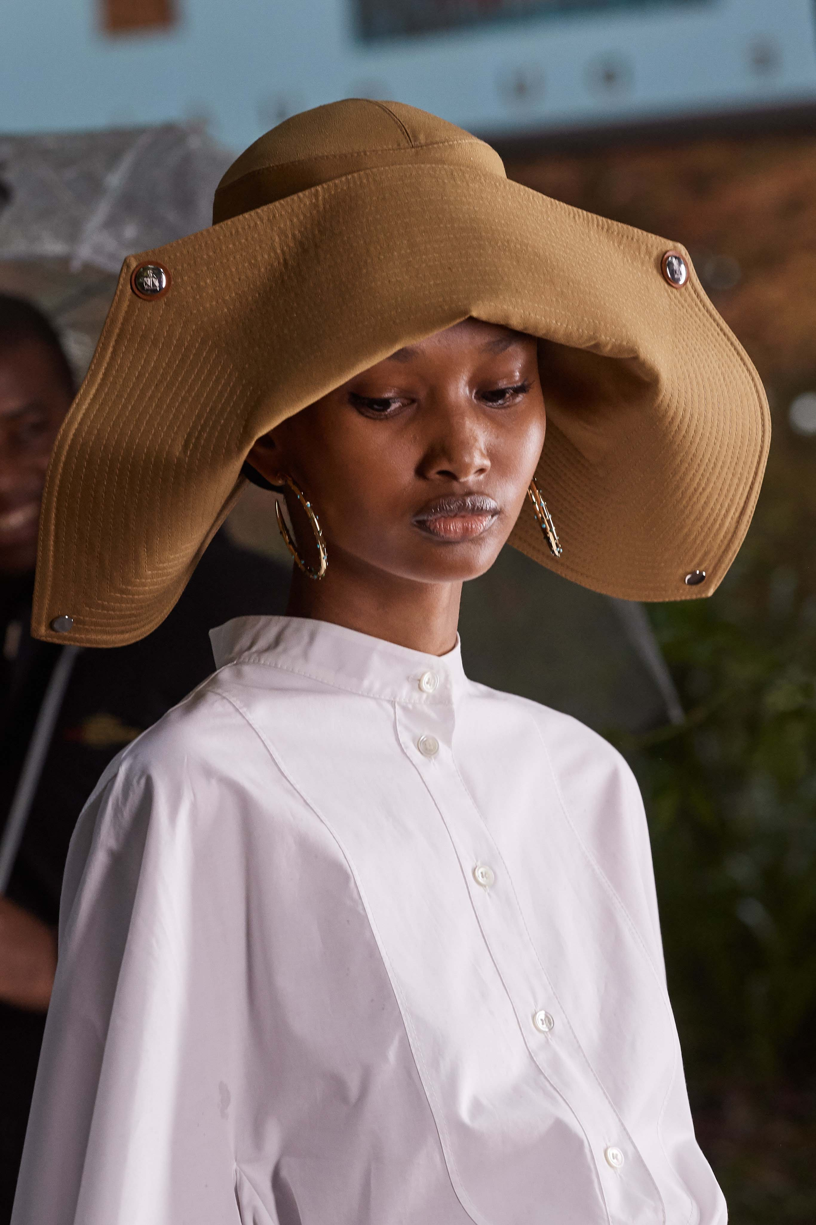 Lanvin Spring Summer 2020 SS2020 trends runway coverage Ready To Wear Vogue hat