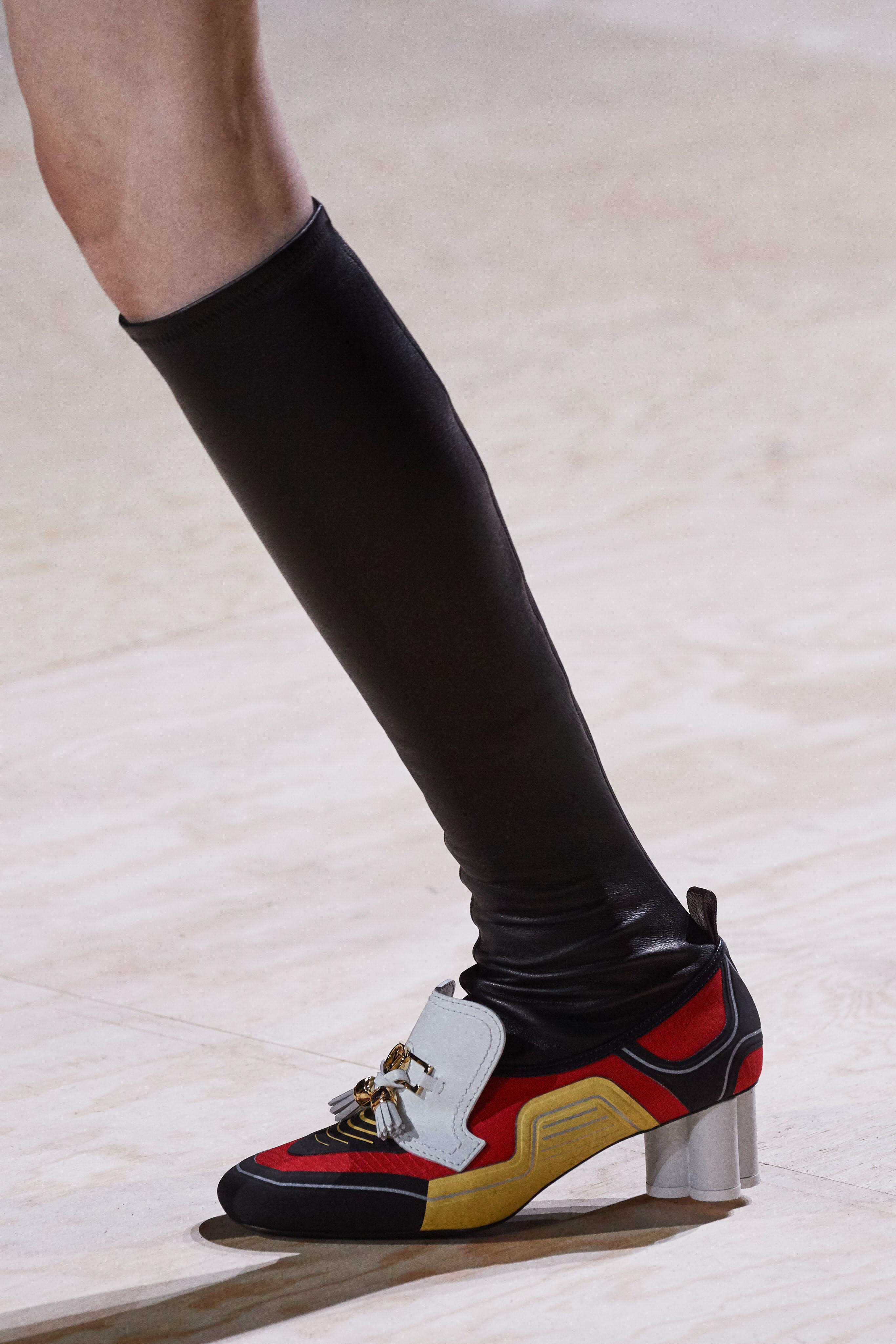 Louis Vuitton Spring Summer 2020 SS20 Vogue Runway leather socks