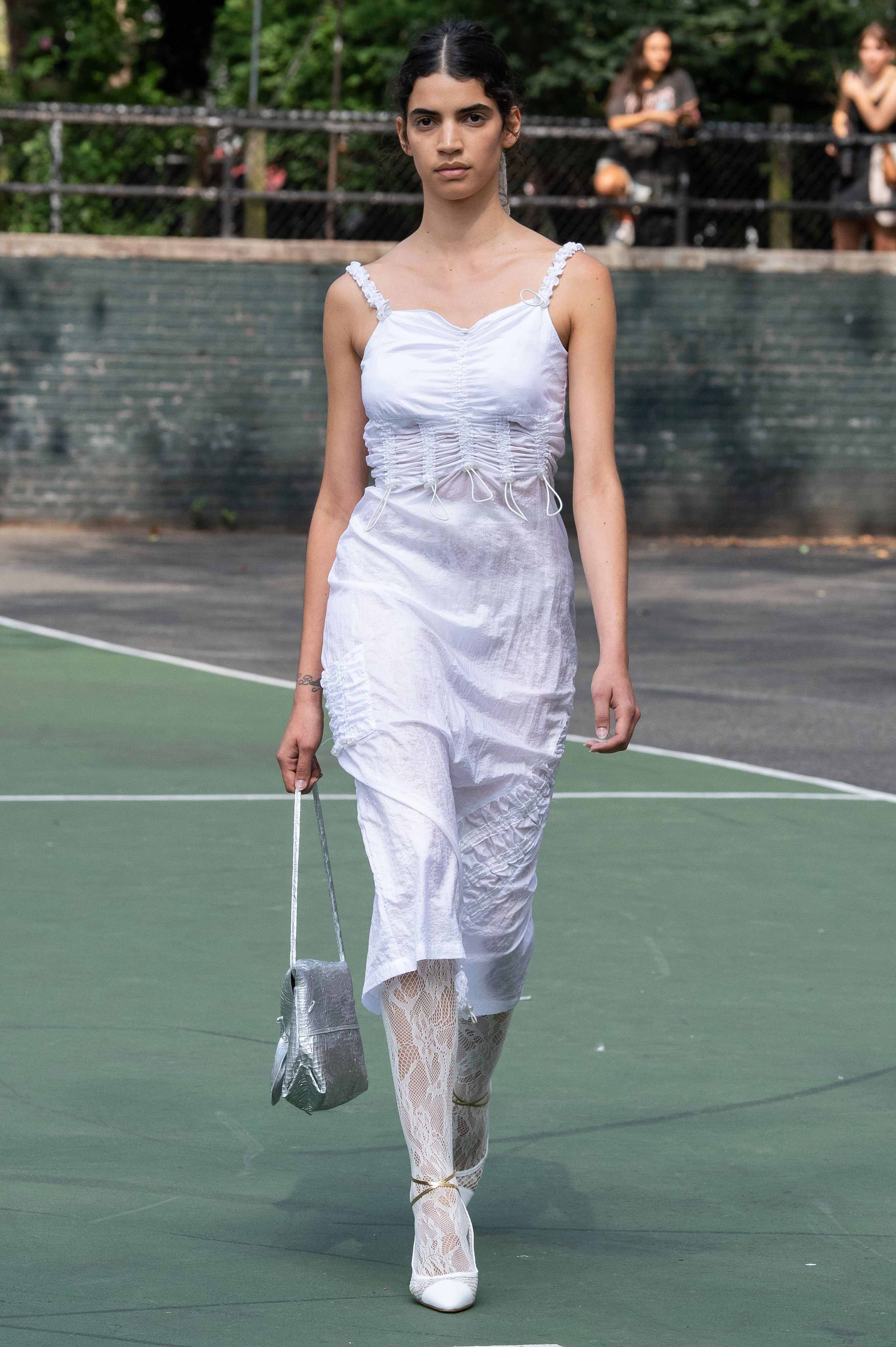 Maryam Nassir Zadeh Spring Summer 2020 SS2020 trends runway coverage Ready To Wear Vogue white