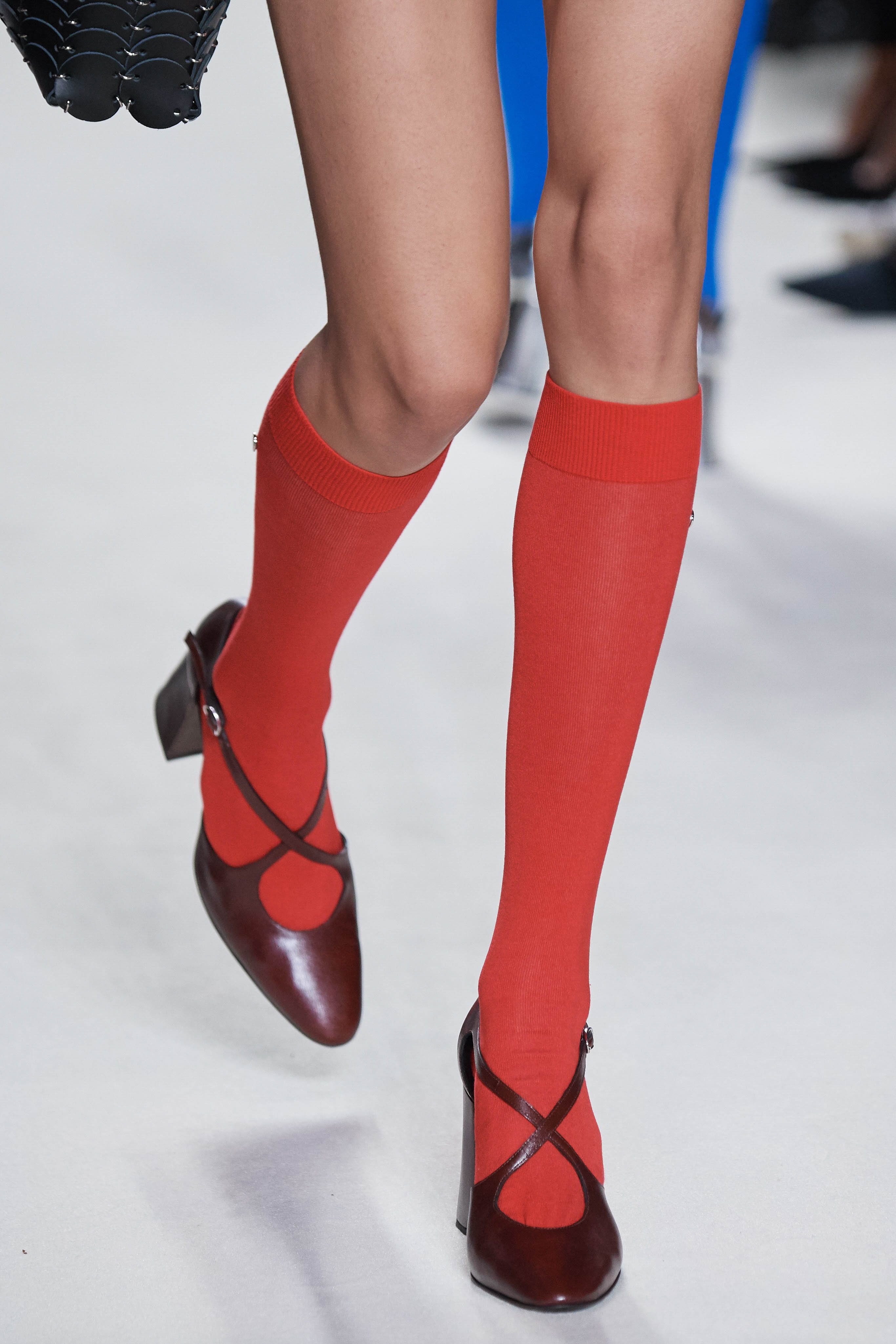 Paco Rabanne Spring Summer 2020 SS2020 trends runway coverage Ready To Wear Vogue details shoes socks