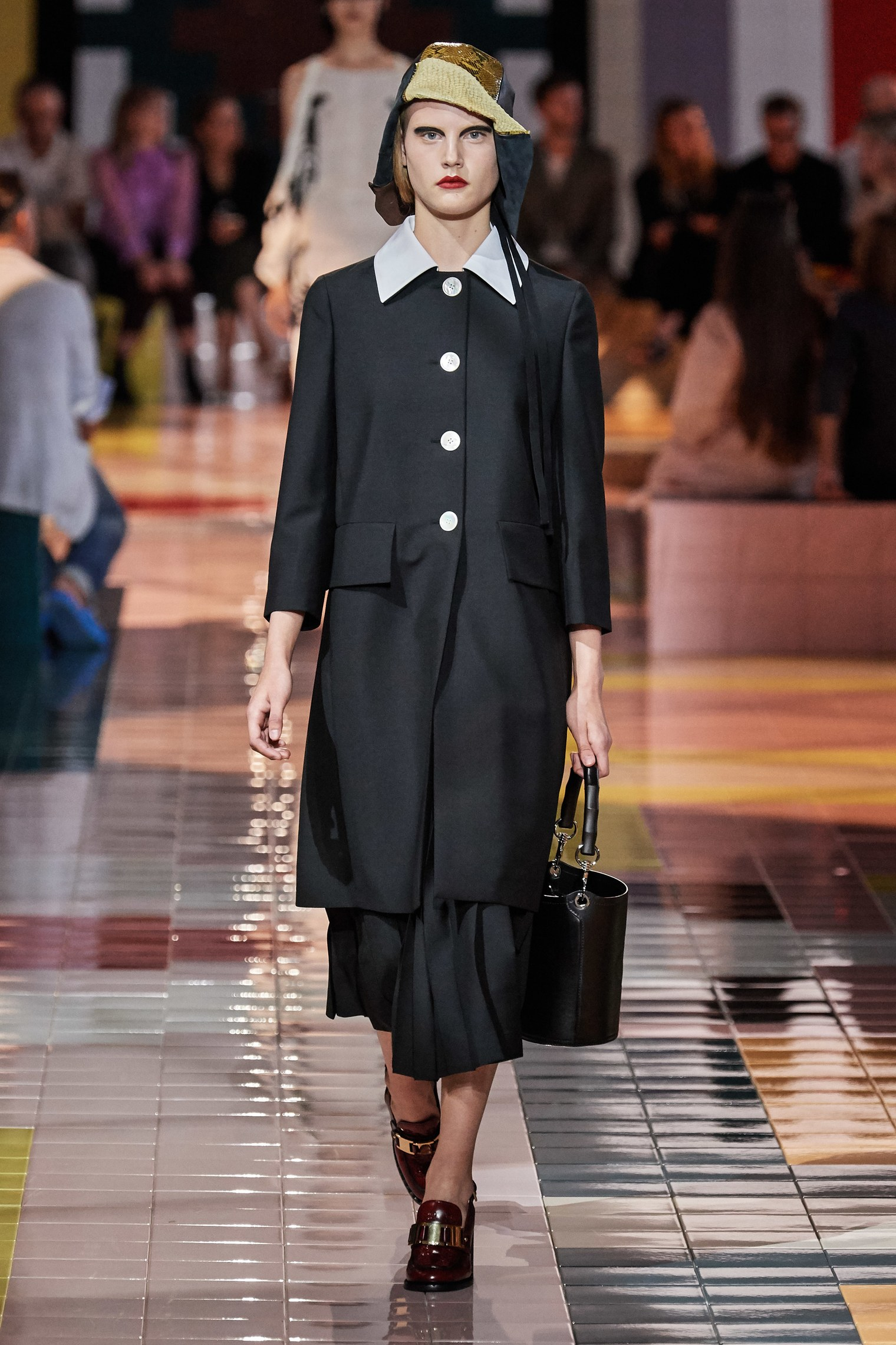 Prada Spring Summer 2020 SS2020 trends runway coverage Ready To Wear Vogue collar