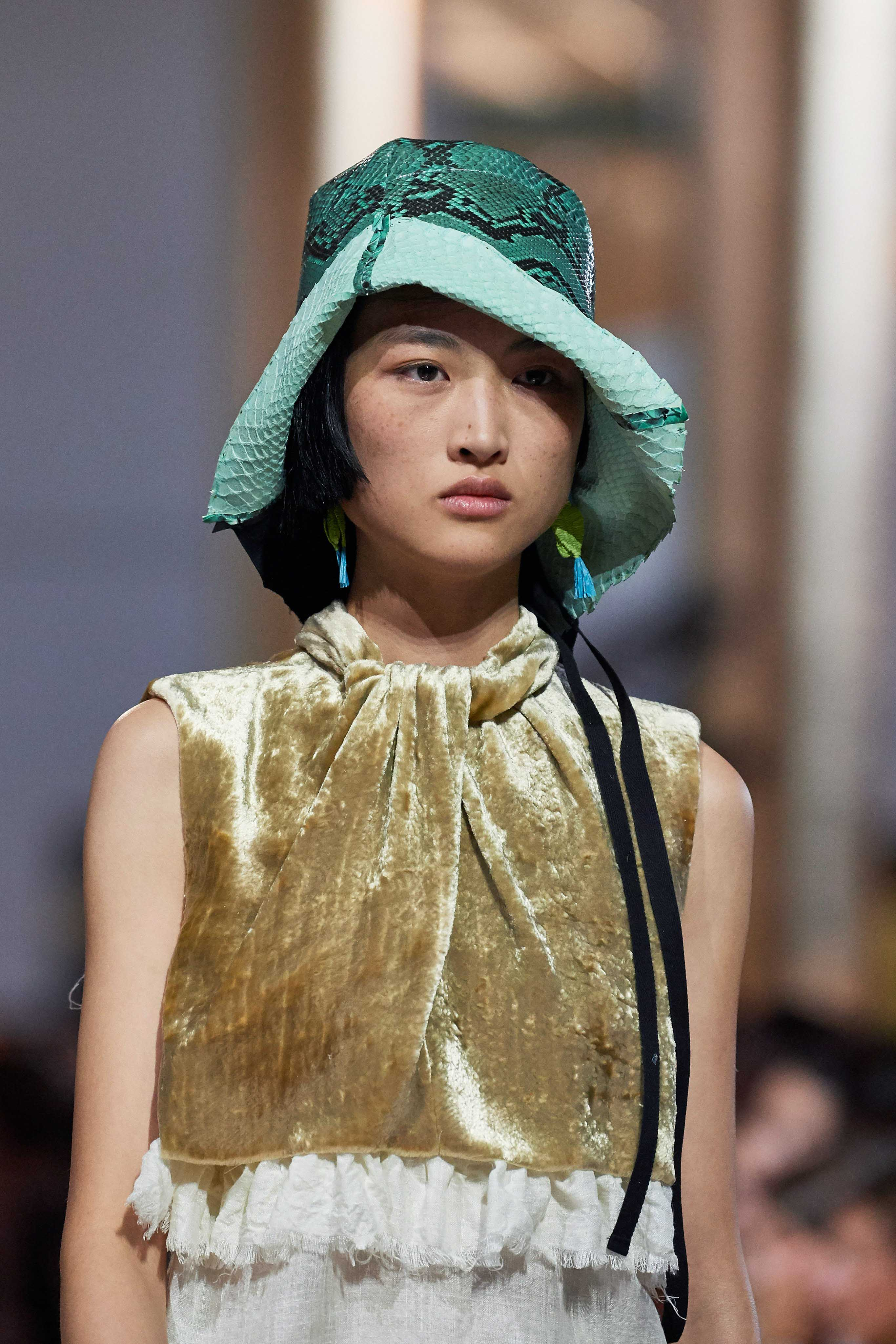 Prada Spring Summer 2020 SS2020 trends runway coverage Ready To Wear Vogue granni shoes hat bucket 2