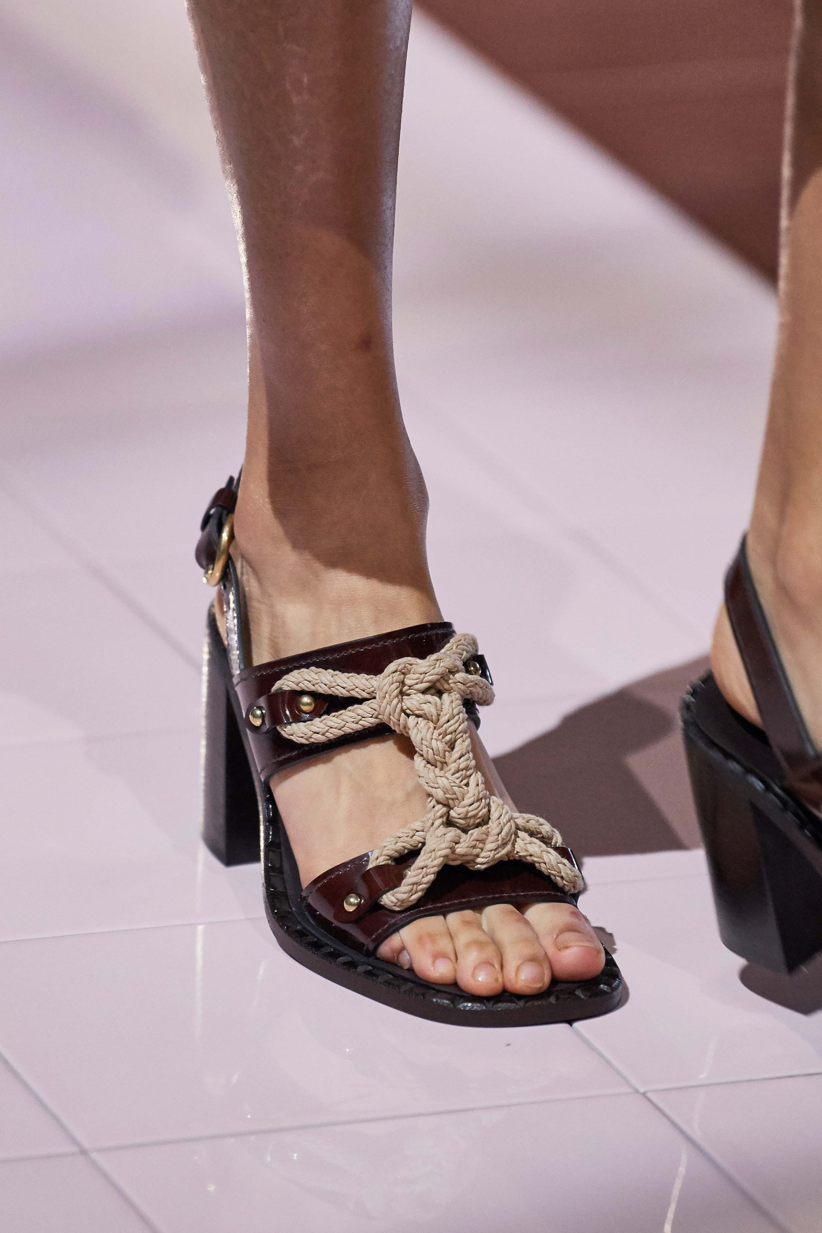 Prada Spring Summer 2020 SS2020 trends runway coverage Ready To Wear Vogue granni shoes rope