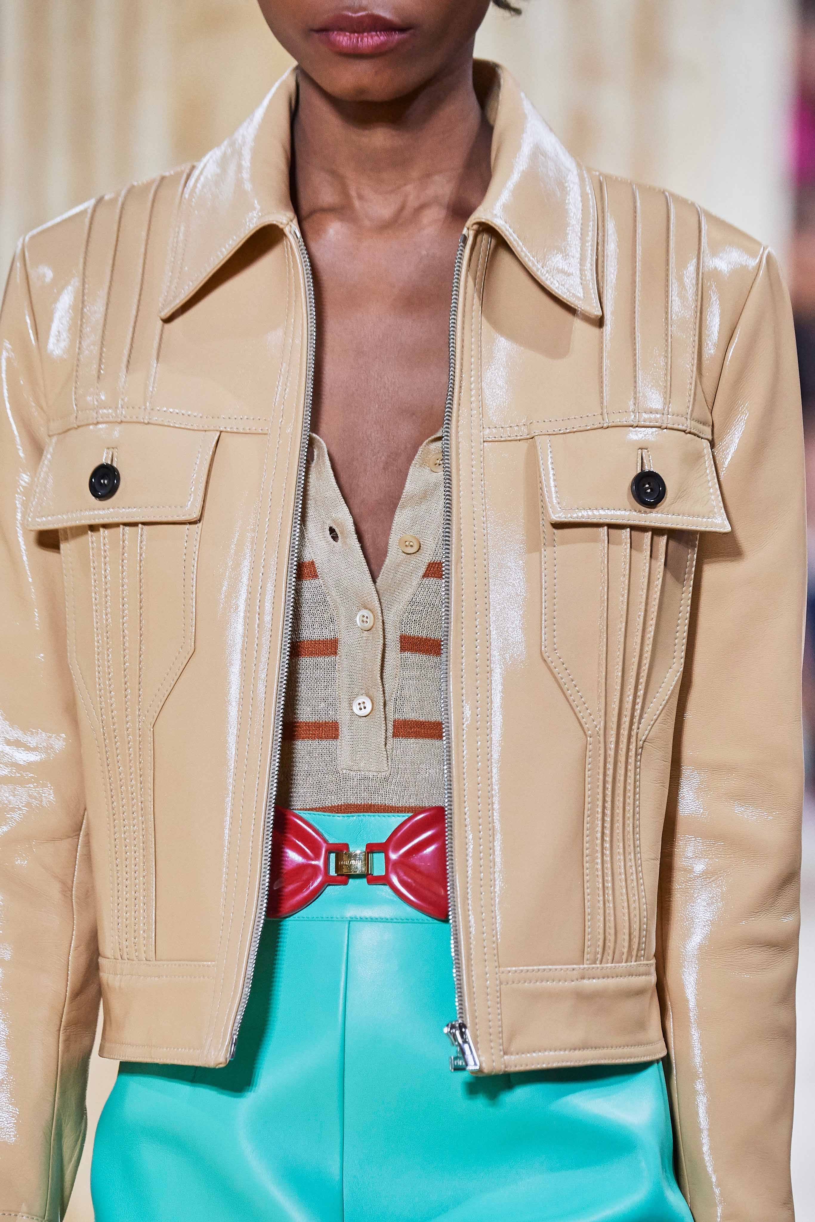 MiuMiu Spring Summer 2020 SS2020 trends runway coverage Ready To Wear Vogue details belt