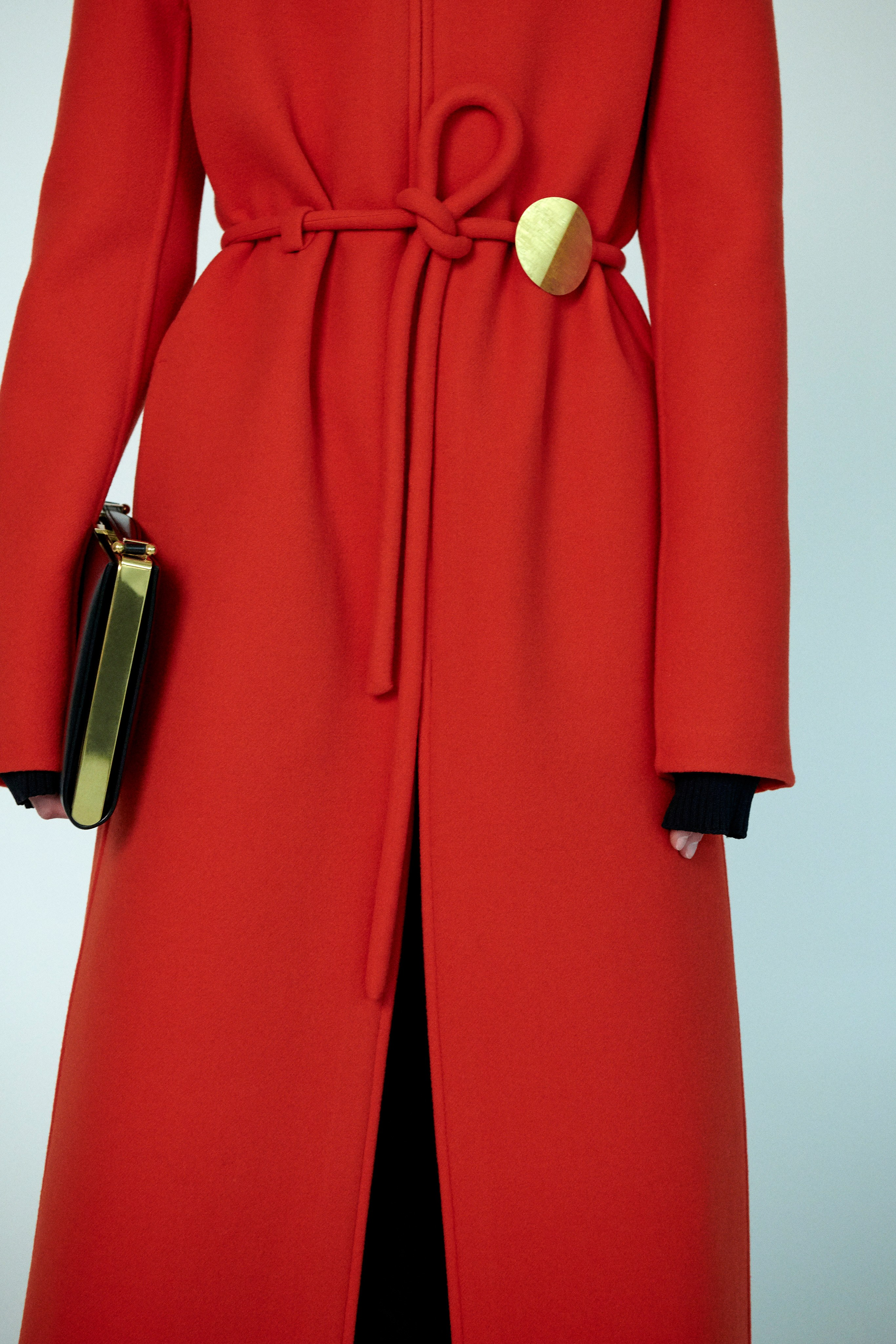 Jil Sander Pre fall 2020 Lookbook trends runway coverage Ready To Wear Vogue red coat