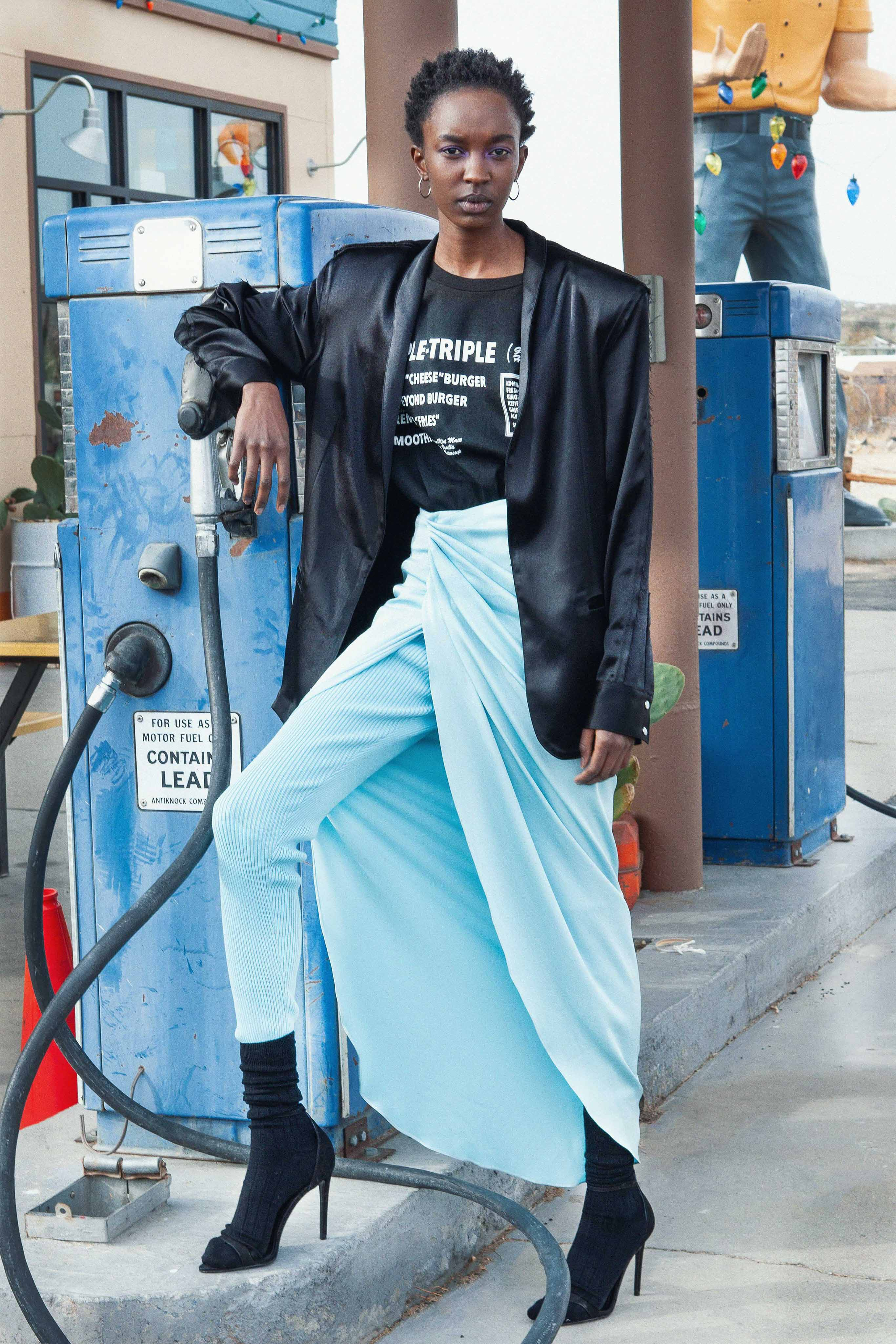 Baja East Pre fall 2020 Lookbook trends runway coverage Ready To Wear Vogue skirt with slit