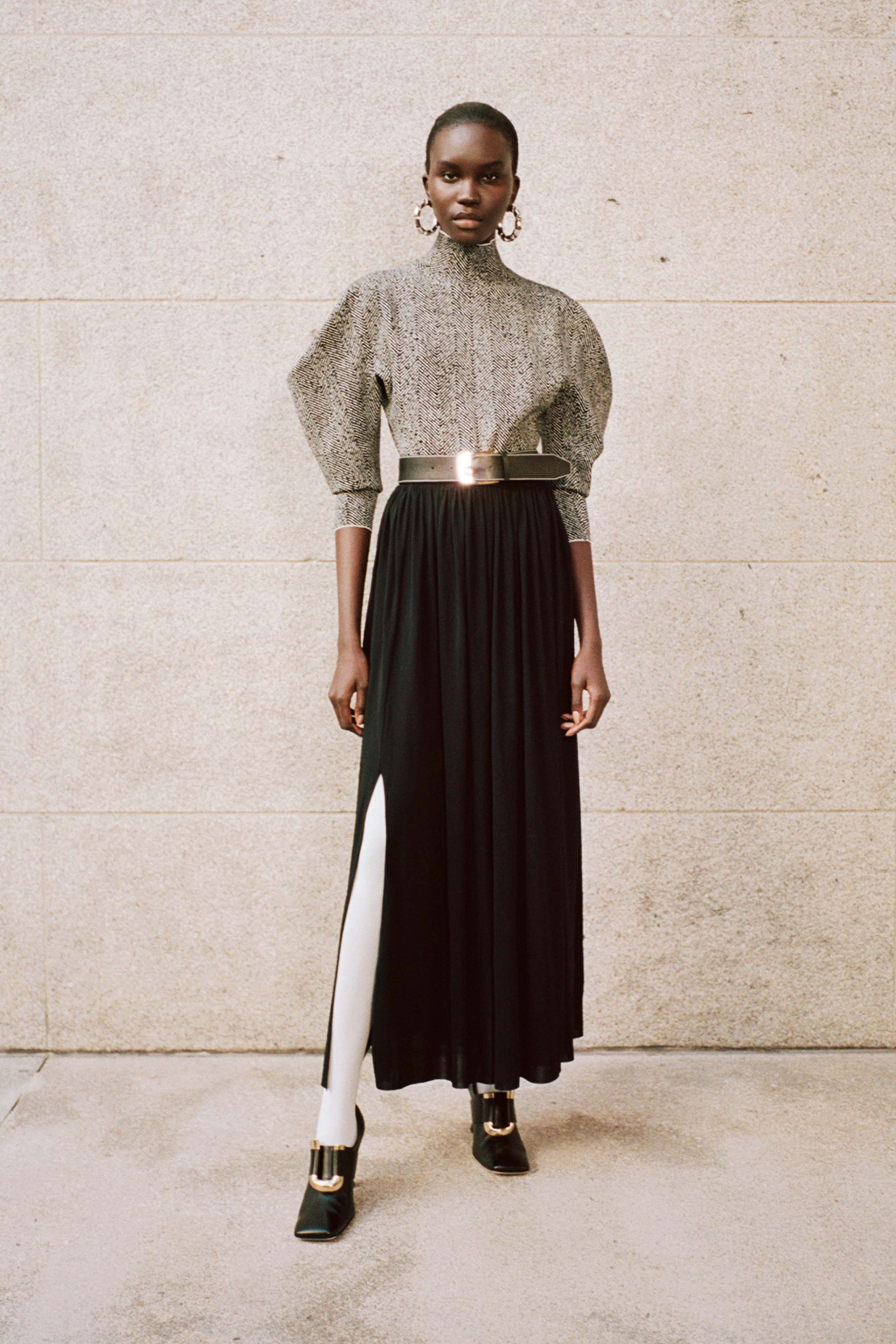 PROENZA SCHOULER Pre fall 2020 Lookbook trends runway coverage Ready To Wear Vogue skirt with slit