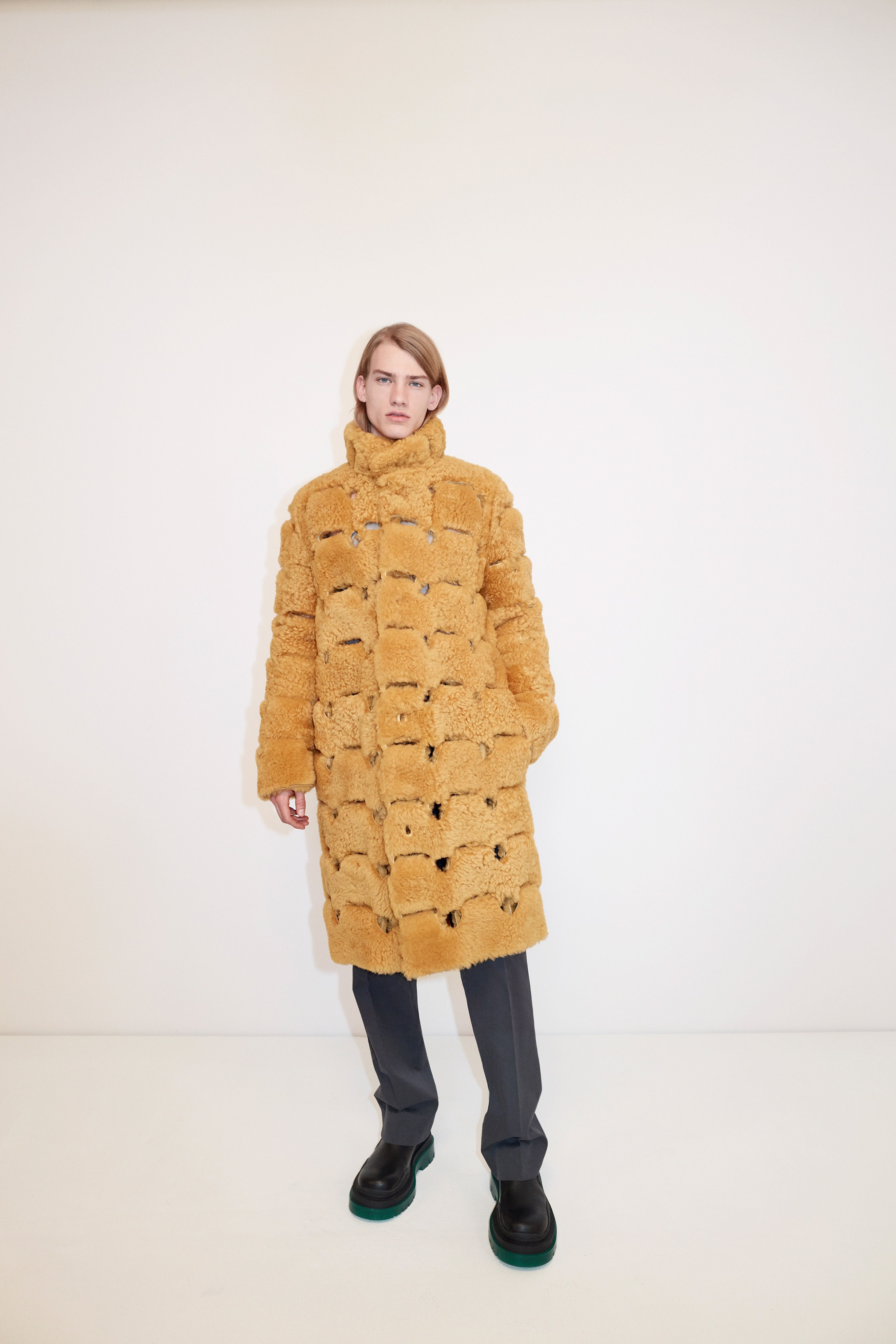 Bottega Veneta Pre fall 2020 Lookbook trends runway coverage Ready To Wear Vogue faux fur coat