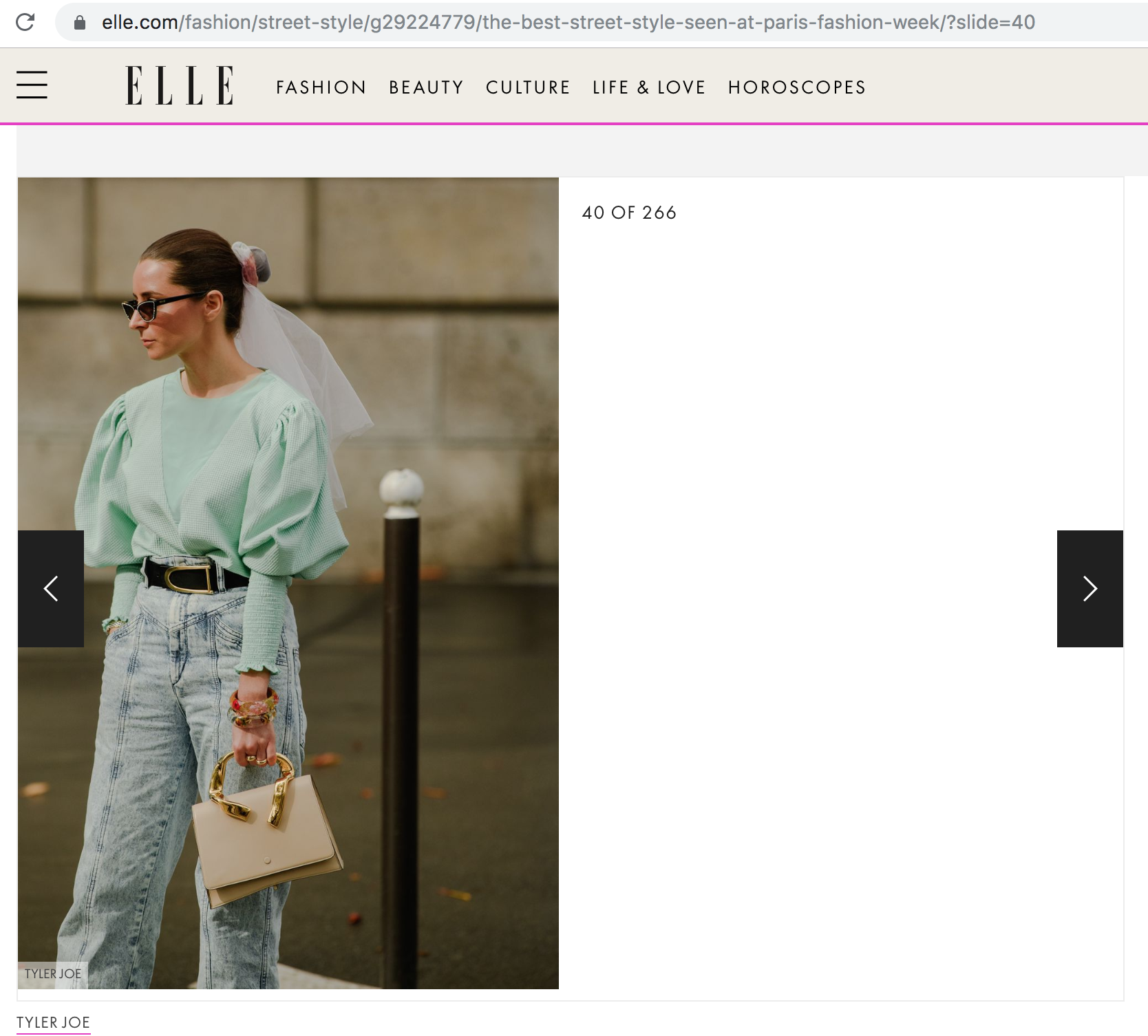 Elle US Paris Fashion Week Julia Comil French USA Fashion Blogger - The Best Street Style Looks From Paris Fashion Week