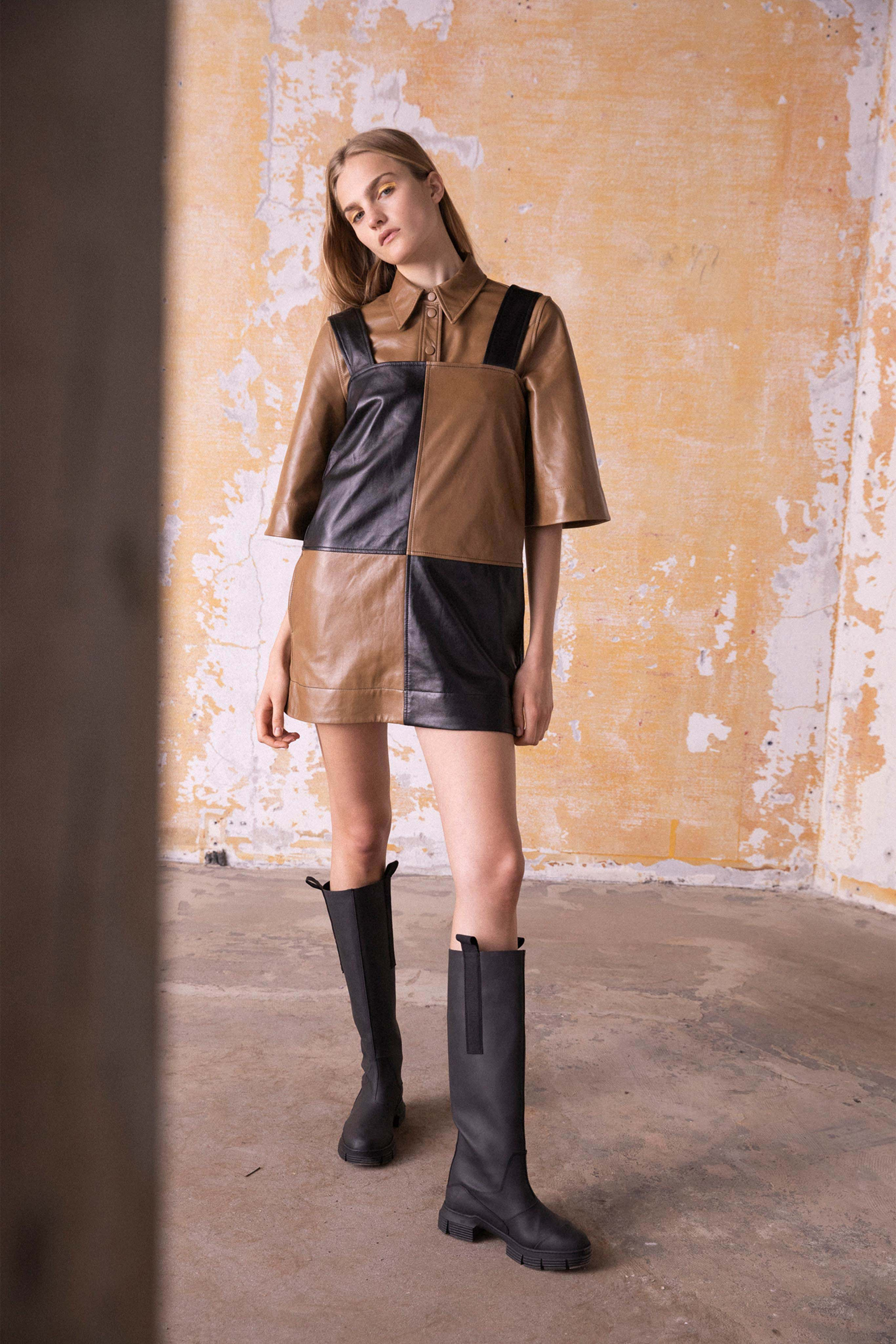 Ganni Pre fall 2020 Lookbook trends runway coverage Ready To Wear Vogue dual tones.jpg