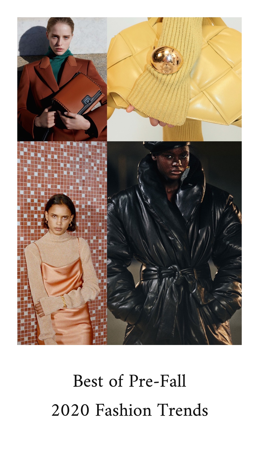 Best Pre-Fall 2020 fashion trends Ready To Wear Vogue Proenza Schouler, Nanushka, Bottega Veneta, Balmain, Sally La Pointe, Chanel