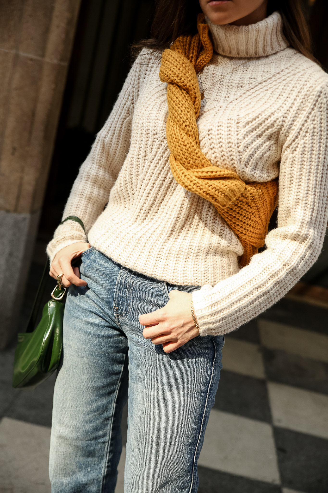 Holiday style sweater winter style julia comil lucky brand