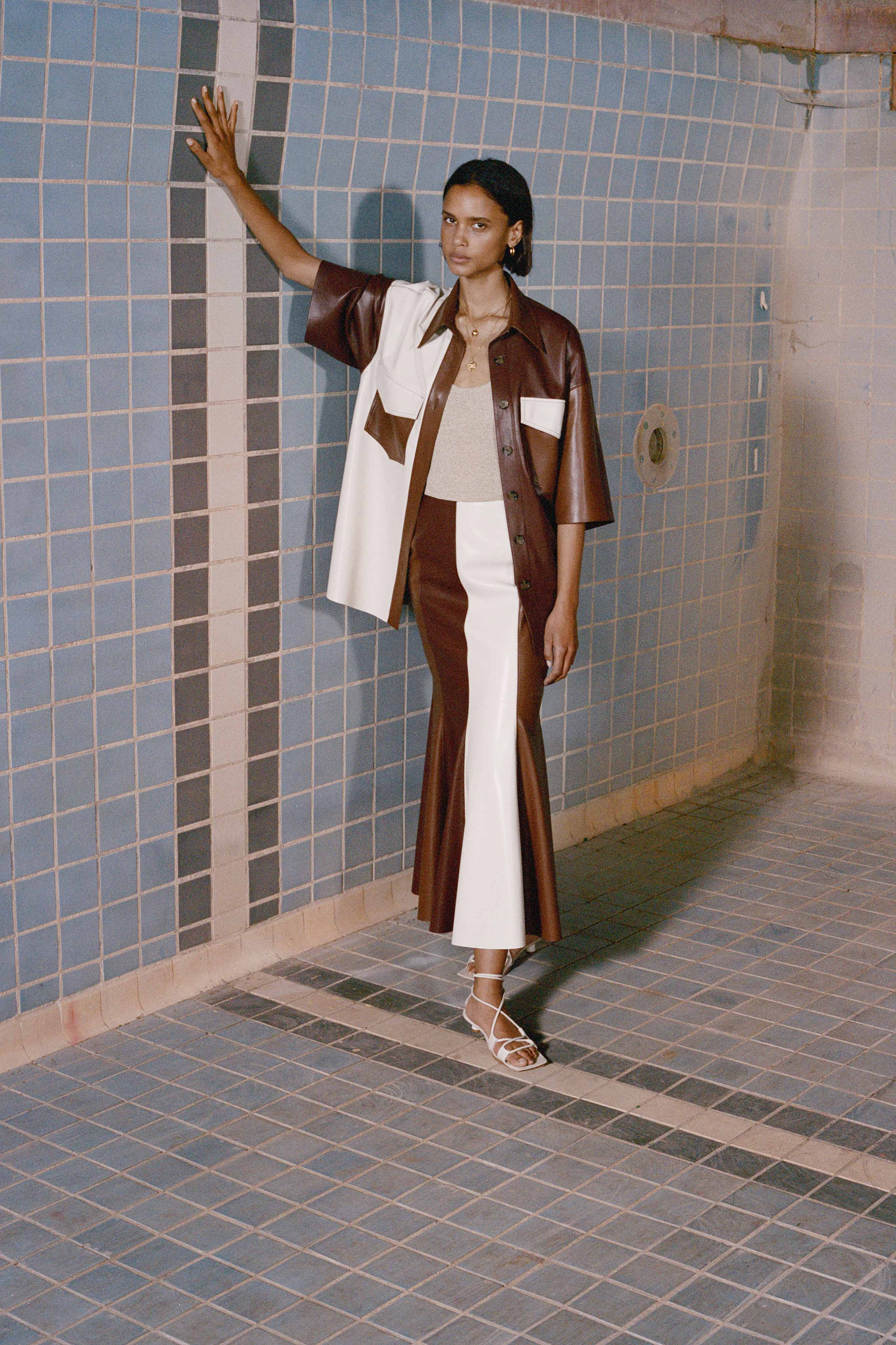 Nanushka Pre fall 2020 Lookbook trends runway coverage Ready To Wear Vogue dual tones.jpg