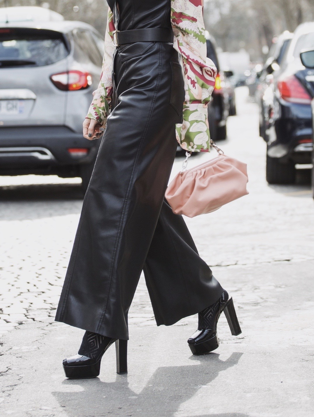 Giuseppe Zanotti High Platform Sandals during Paris Fashion Week Street Style 2020 Julia Comil