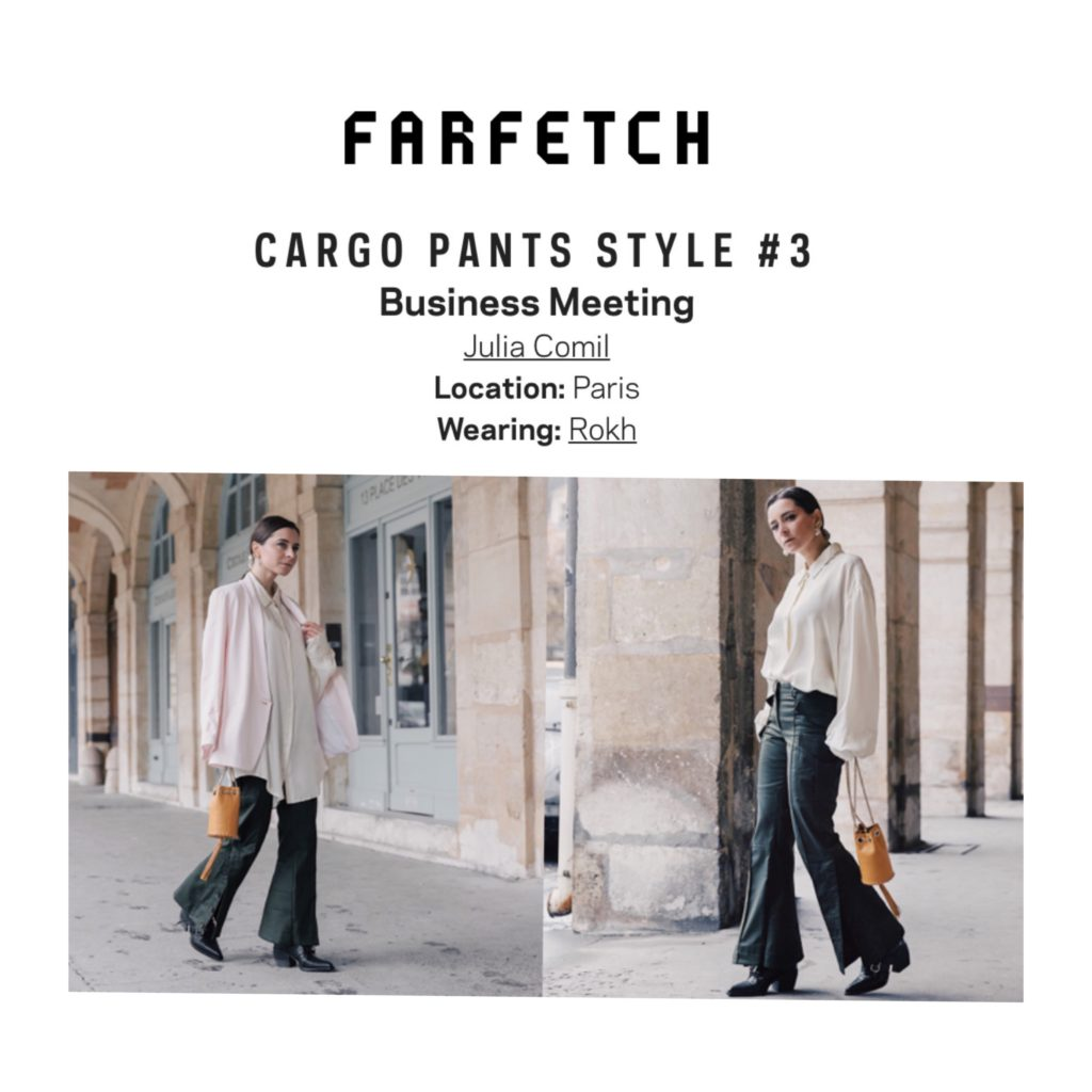 Farfetch Interview of Julia Comil, a French fashion influencer