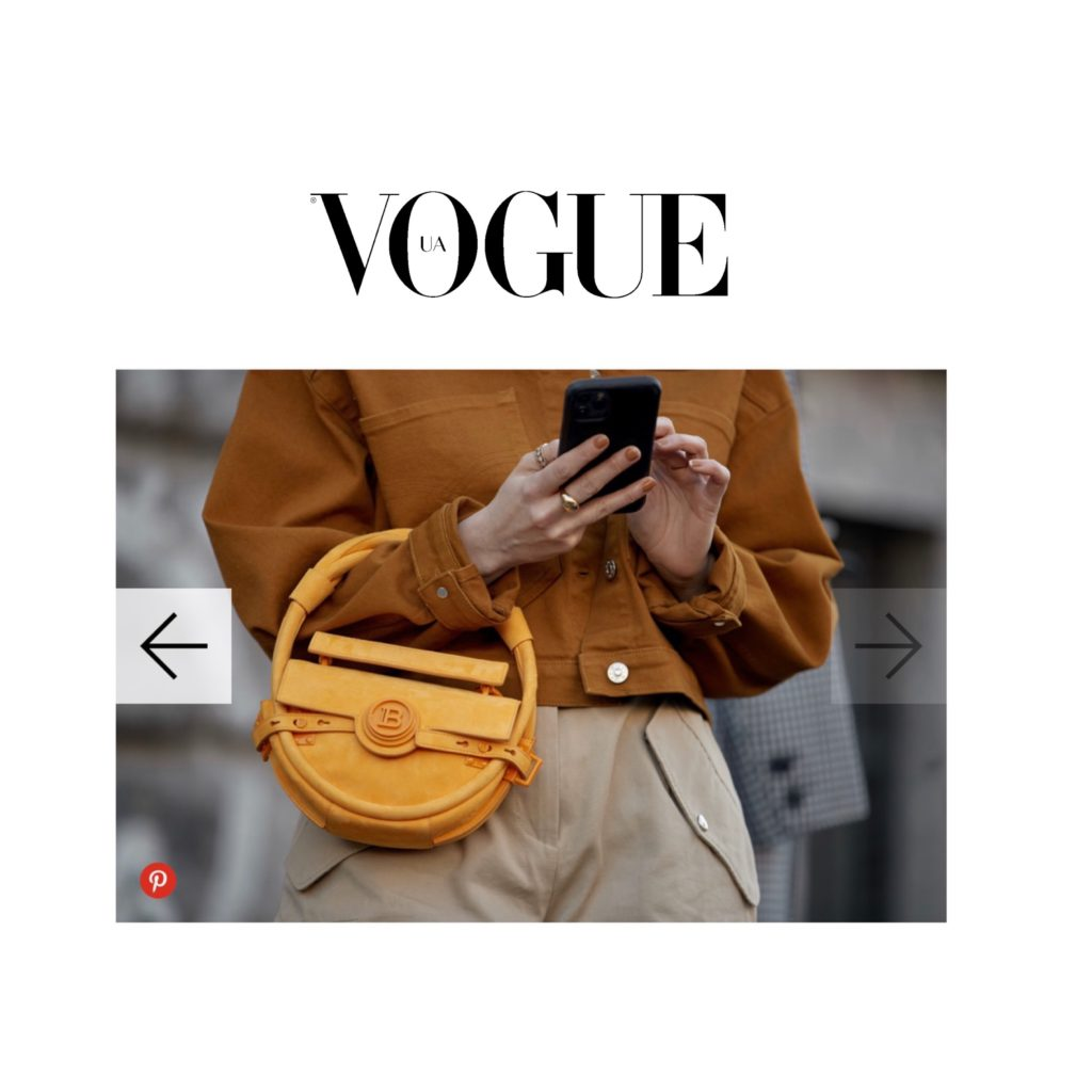 Vogue Ukraine - Best of Milan Fashion Week Street Style Fall 2020 - Julia Comil shot by The Style Stalker - Julia is wearing Balmain bag, Barbara Bui pants and jacket