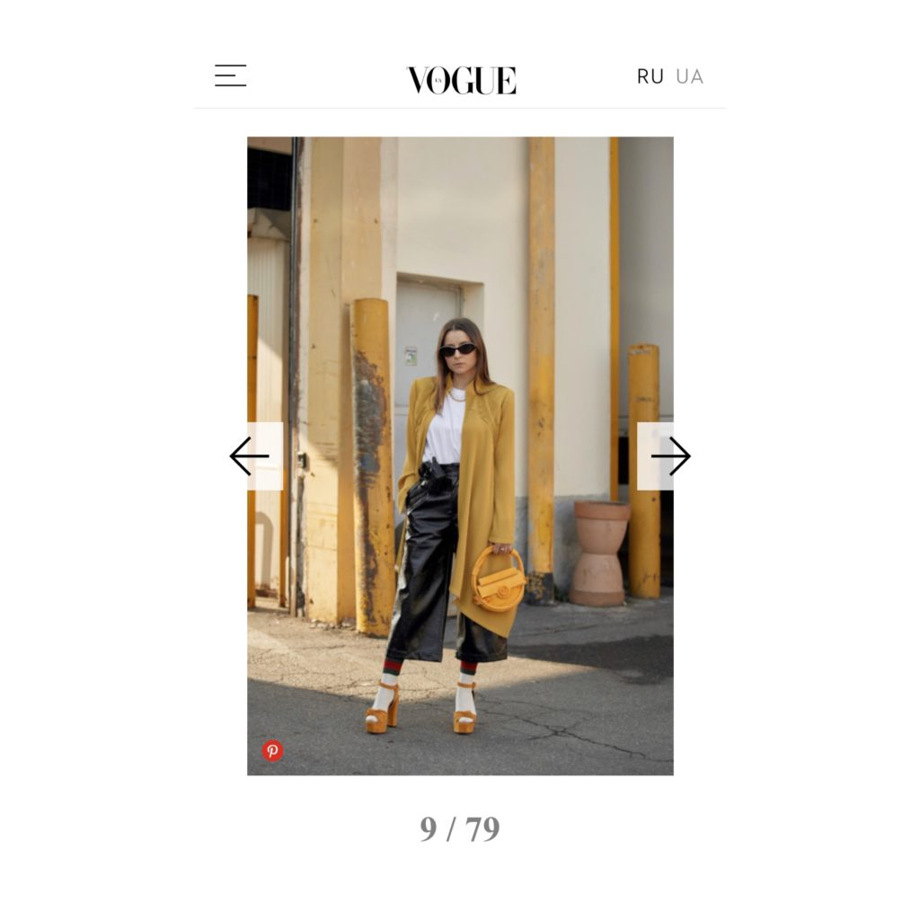 Milan Fashion Week Street Style Vogue Magazine UA french fashion influencer Julia Comil wearing balmain barbara bui giuseppe zanotti palform shoes shot by the style stalker