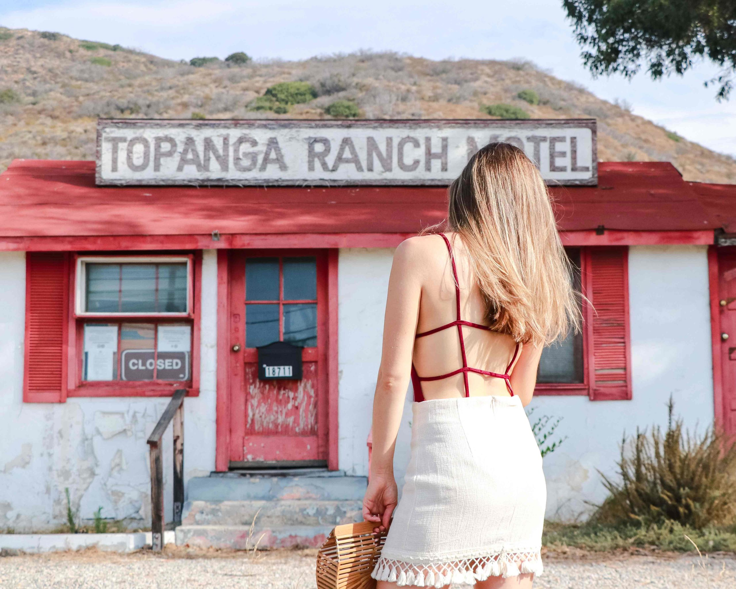Topanga Ranch Motel - Strappy Back Bodysuit - UO - August Edit: Summer Swimsuit and Bodysuit to show your best back! More on Modersvp.com