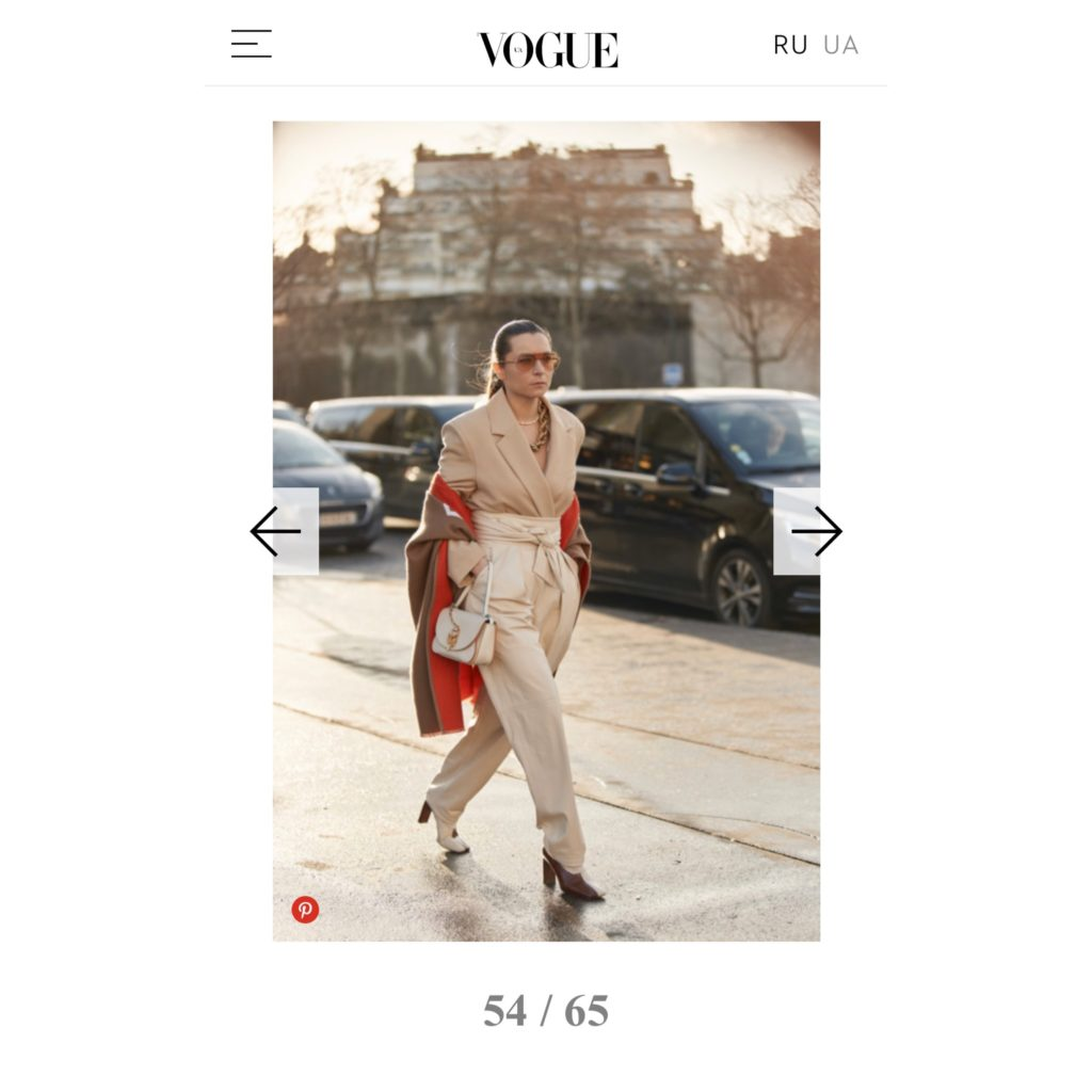 Vogue Ukraine Julia Comil wearing kristina fidelskaya, JW Anderson, Wandler, Burberry, Ferragamo, Brinker & Eliza Paris Fashion Week shot by the style stalker