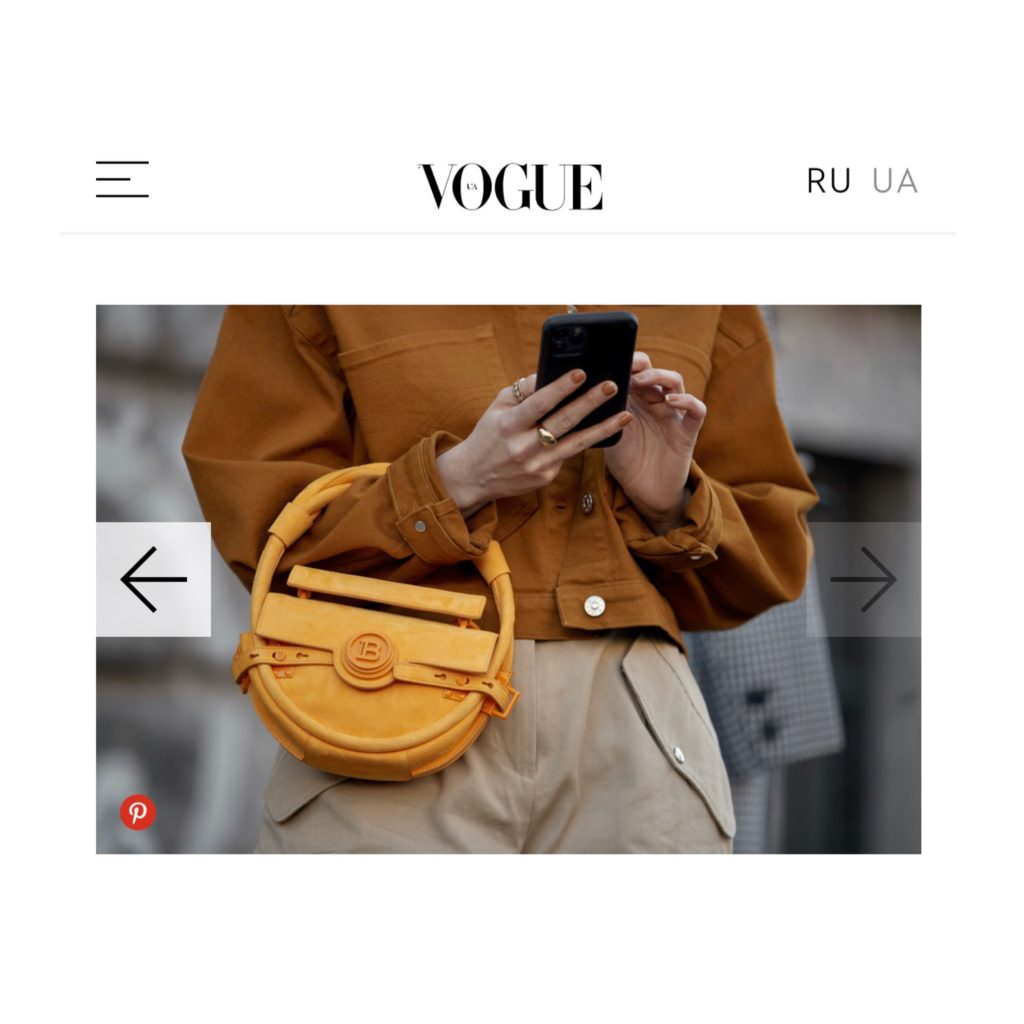 Vogue Ukraine french fashion influencer Julia Comil wearing balmain barbara bui Milan Fashion Week Street Style fall 2020 shot by the style stalker