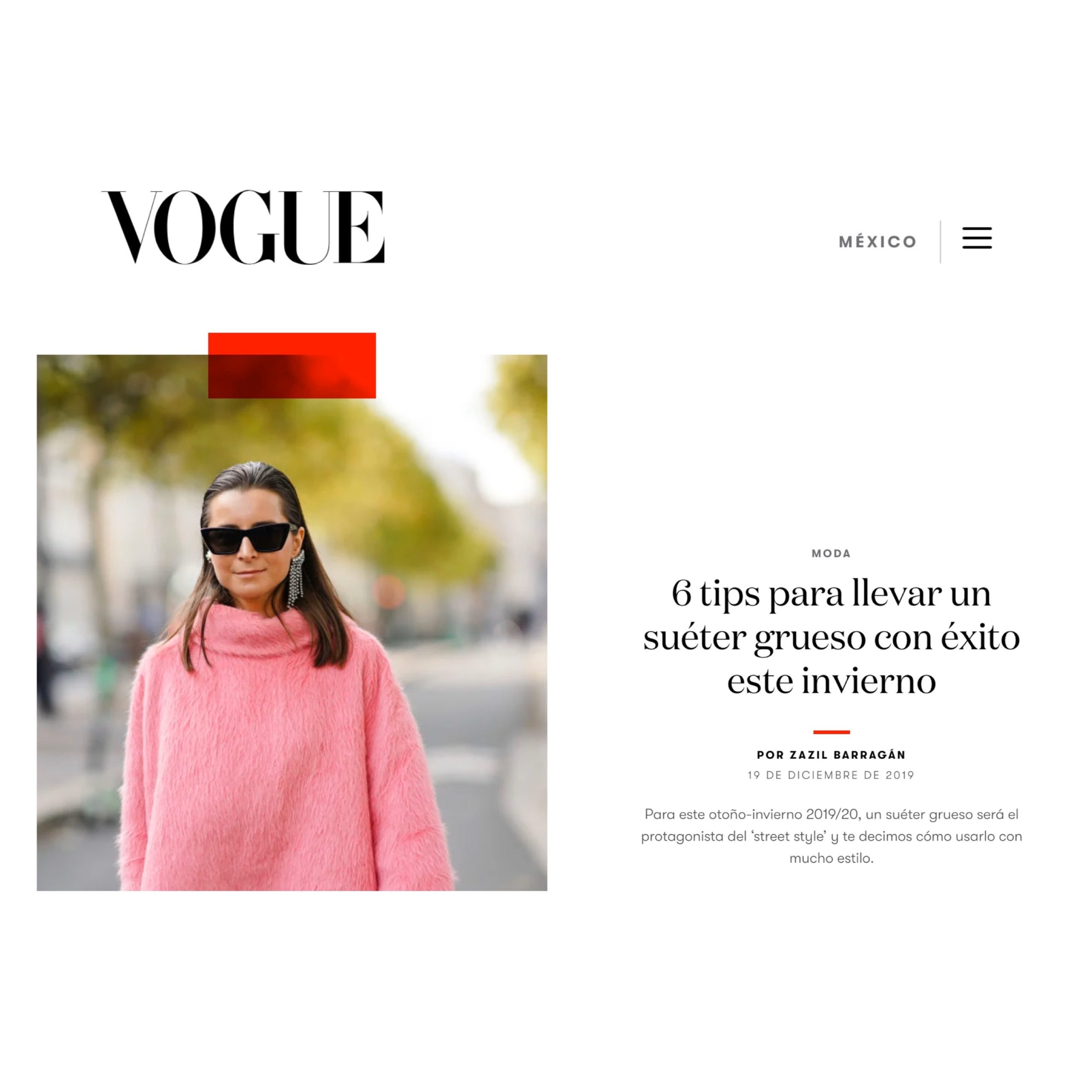 Vogue Mexico Julia Comil French Fashion Influencer