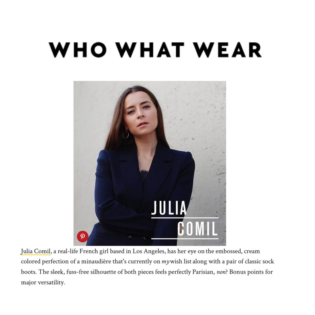 Who What Wear Interview of Julia Comil