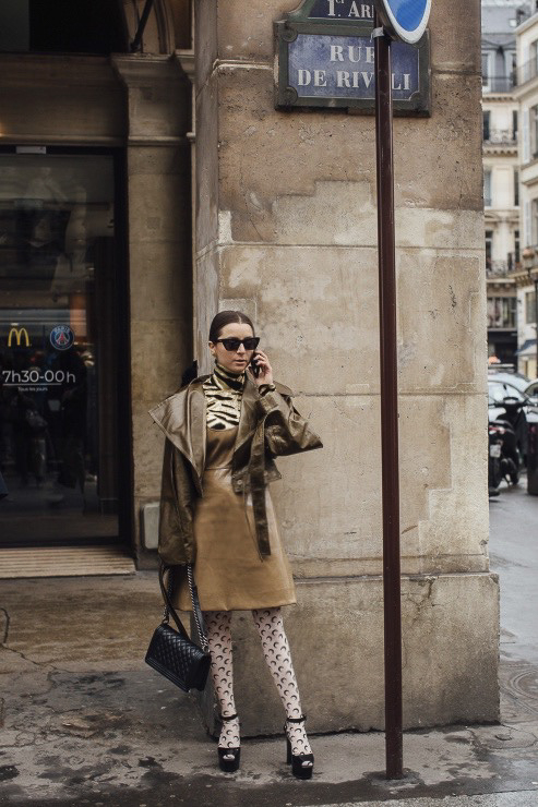 army color paris fashion week street style 2020 AW march 2020 julia comil ganni paco rabanne vogue elle kristina fidelskaya