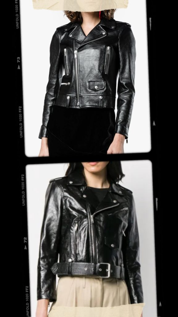 Stylish affordable alternative to Givenchy and Saint Laurent leather biker jacket- The leather biker jacket is a French staple: timeless and effortless chic! Selection of the best premium leather jackets at an affordable price #sezane #blackleatherjacket #womensleatherjacket #wardrobestaples #minimalstyle #effortlesschic #frenchgirlstyle #lestylealafrancaise #theparisguru #leatherjacket #womenswear #bikerjacket