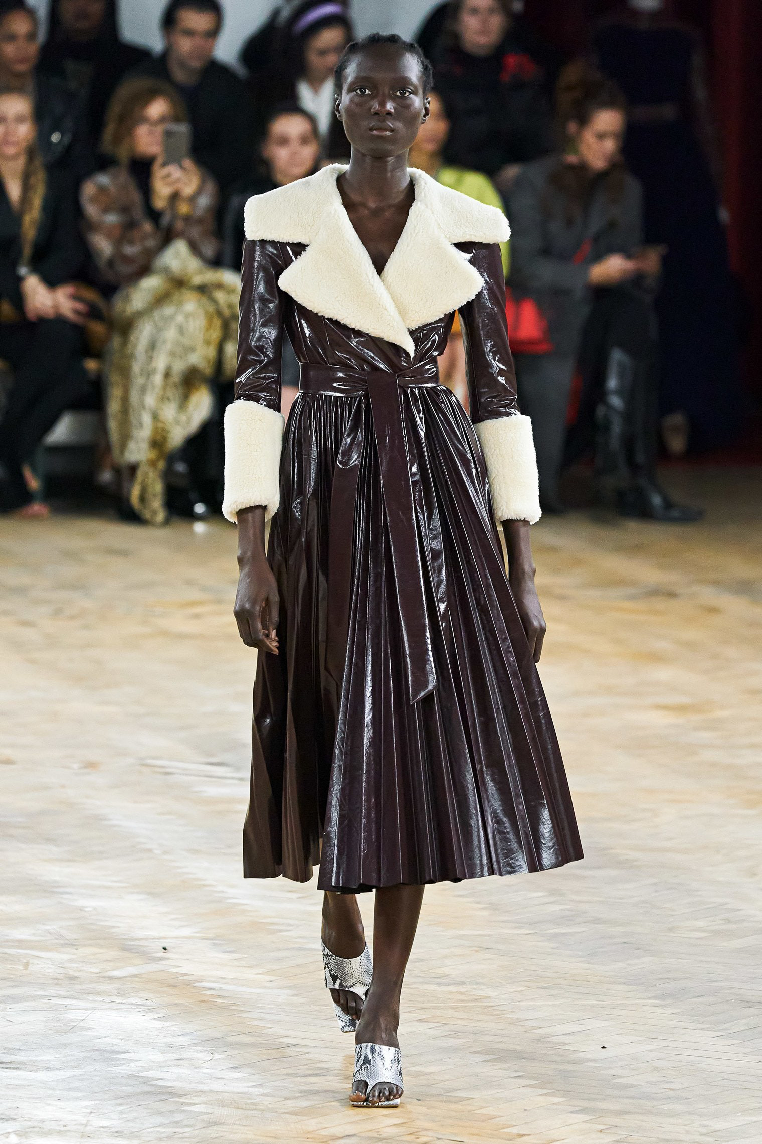 A.W.A.K.E. Mode Fall 2020 trends runway coverage Ready To Wear Vogue coat luster glossy