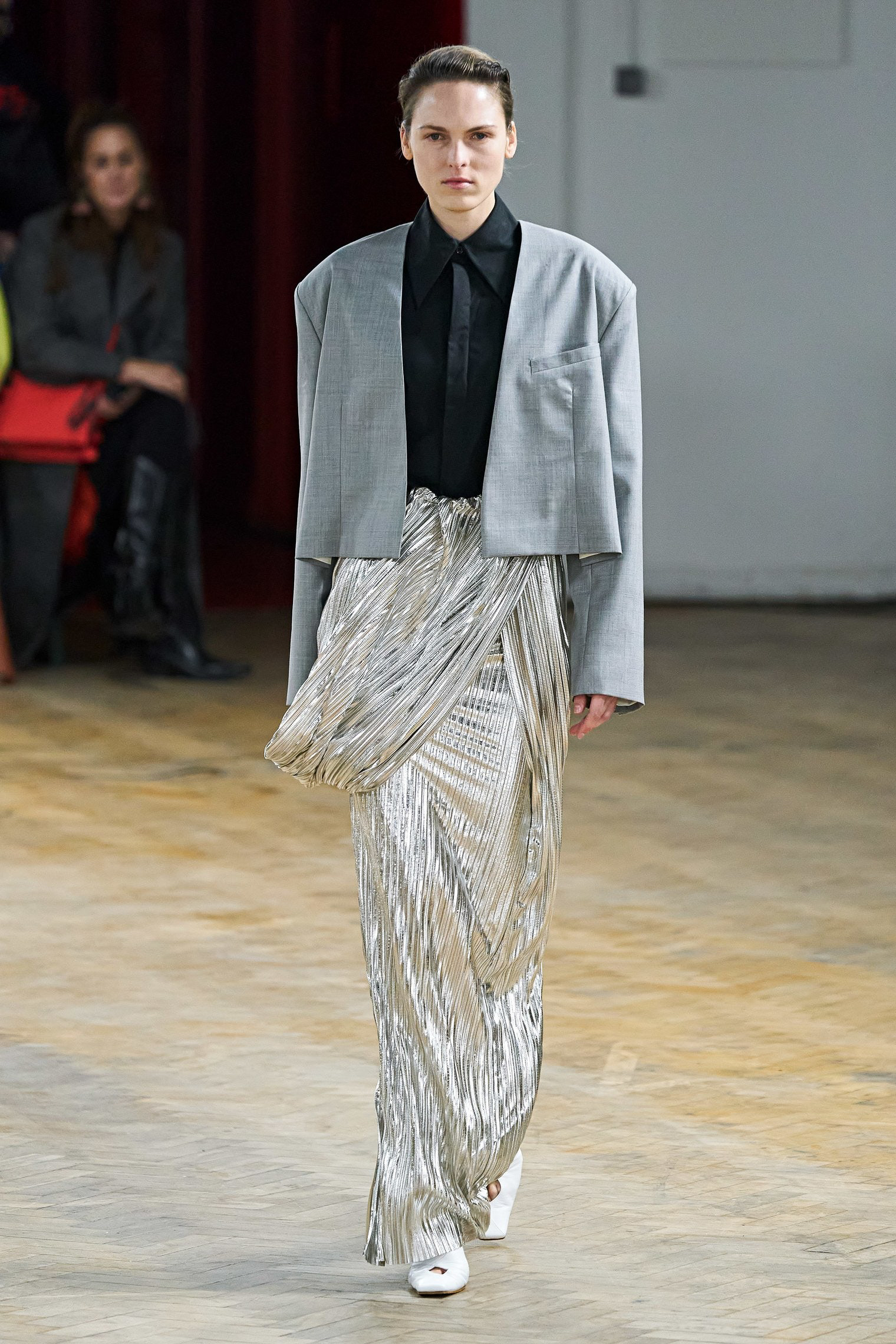 A.W.A.K.E. Mode Fall 2020 trends runway coverage Ready To Wear Vogue grey and silver minimal_