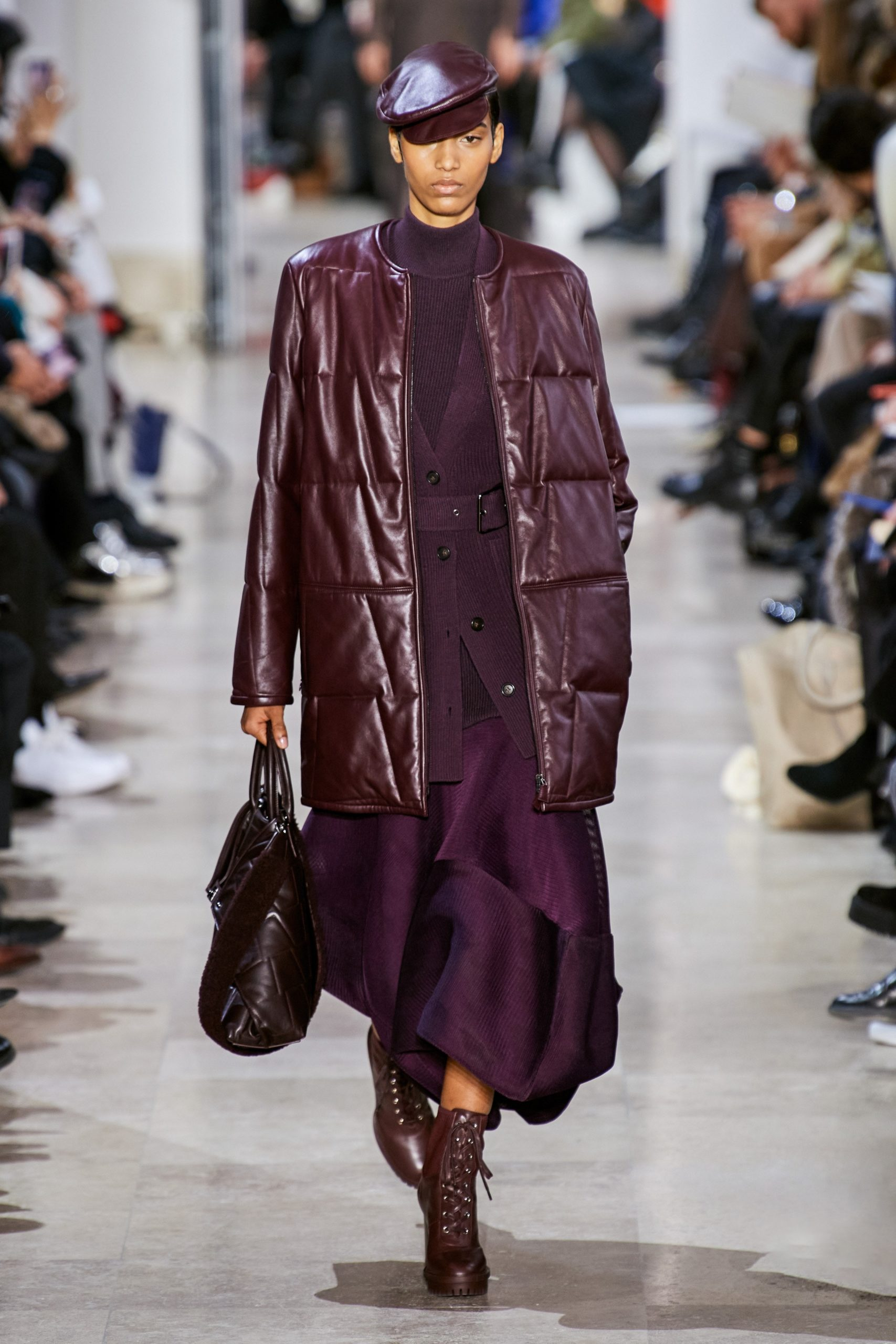 Akris Fall Winter 2020 trends runway coverage Ready To Wear Vogue eggplant monochrome