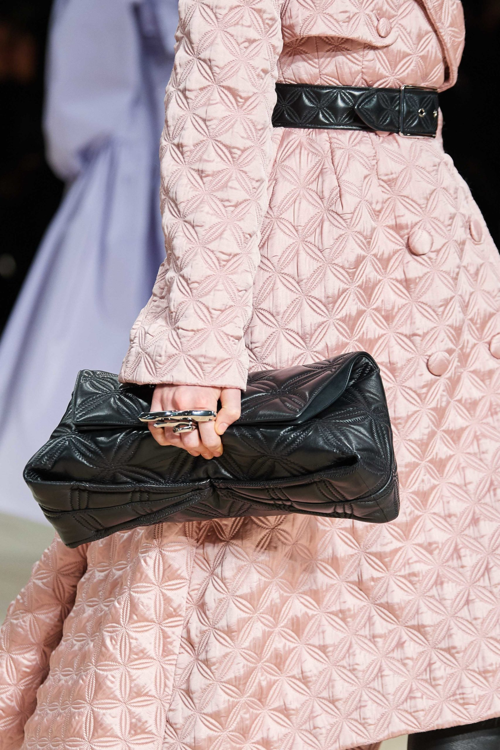 Alexander McQueen Fall 2020 trends runway coverage Ready To Wear Vogue details big clutch trend bag