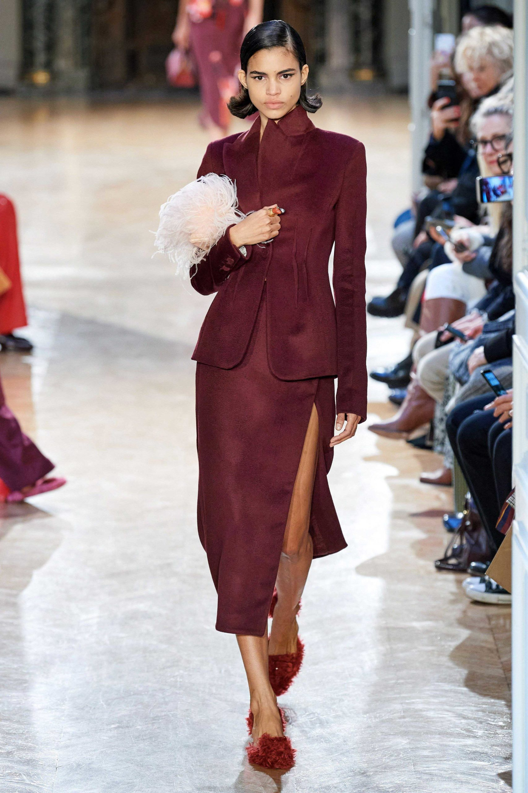 Altuzarra Fall 2020 trends runway coverage Ready To Wear Vogue feather