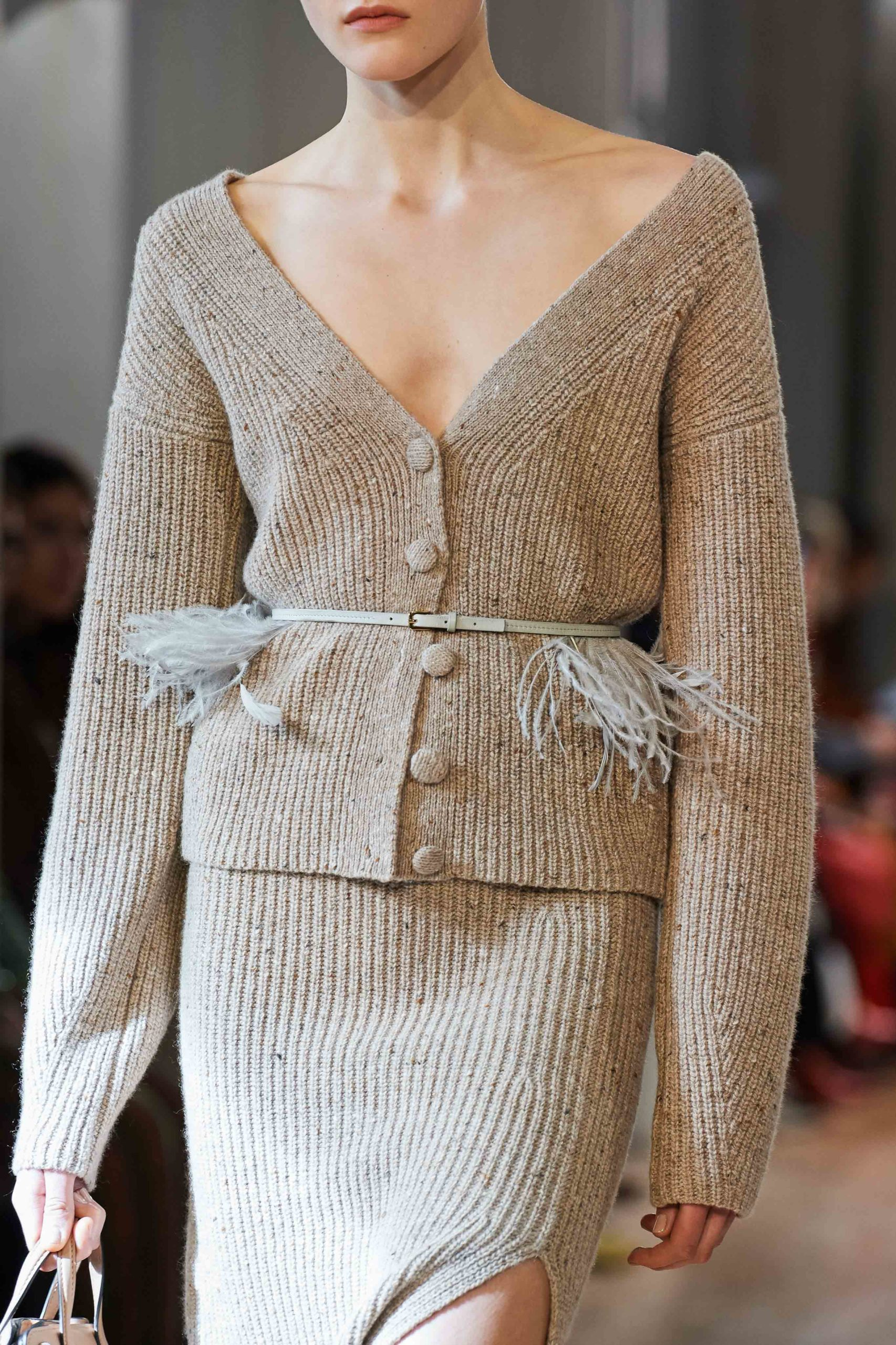 Altuzarra Fall 2020 trends runway coverage Ready To Wear Vogue details feather 4