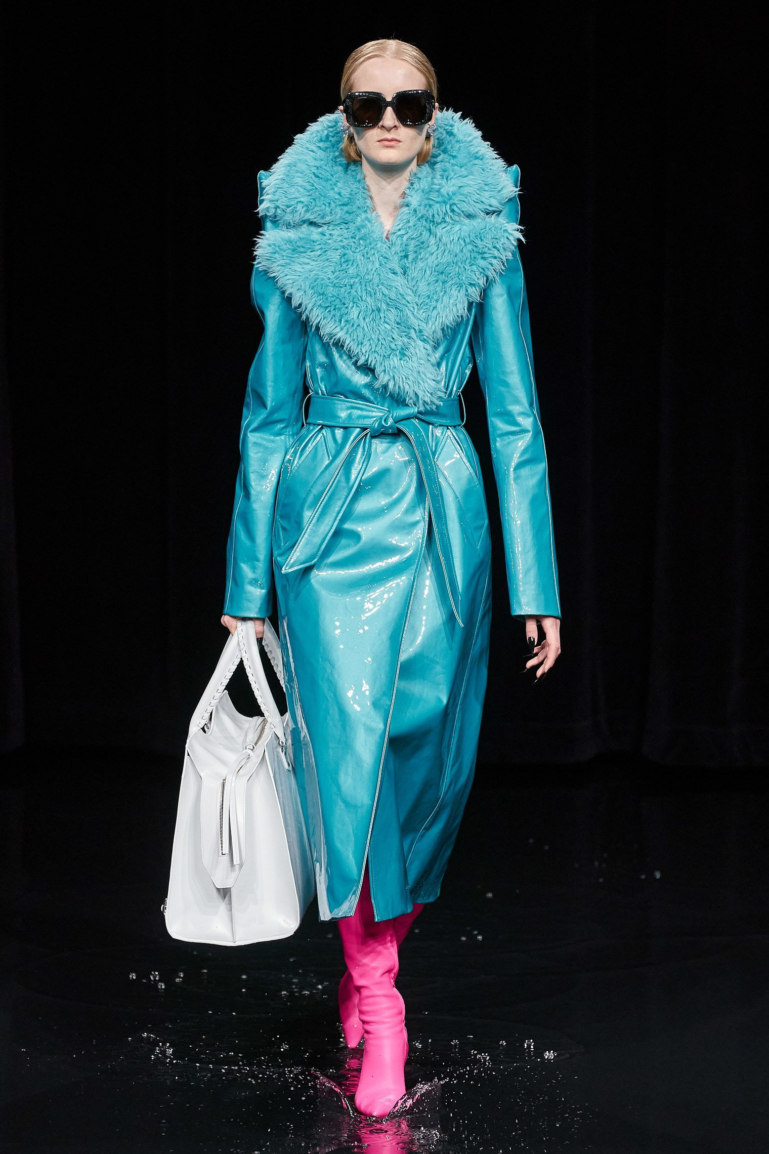 Balenciaga Fall Winter 2020 trends runway coverage Ready To Wear Vogue shaggy blue luster glossy
