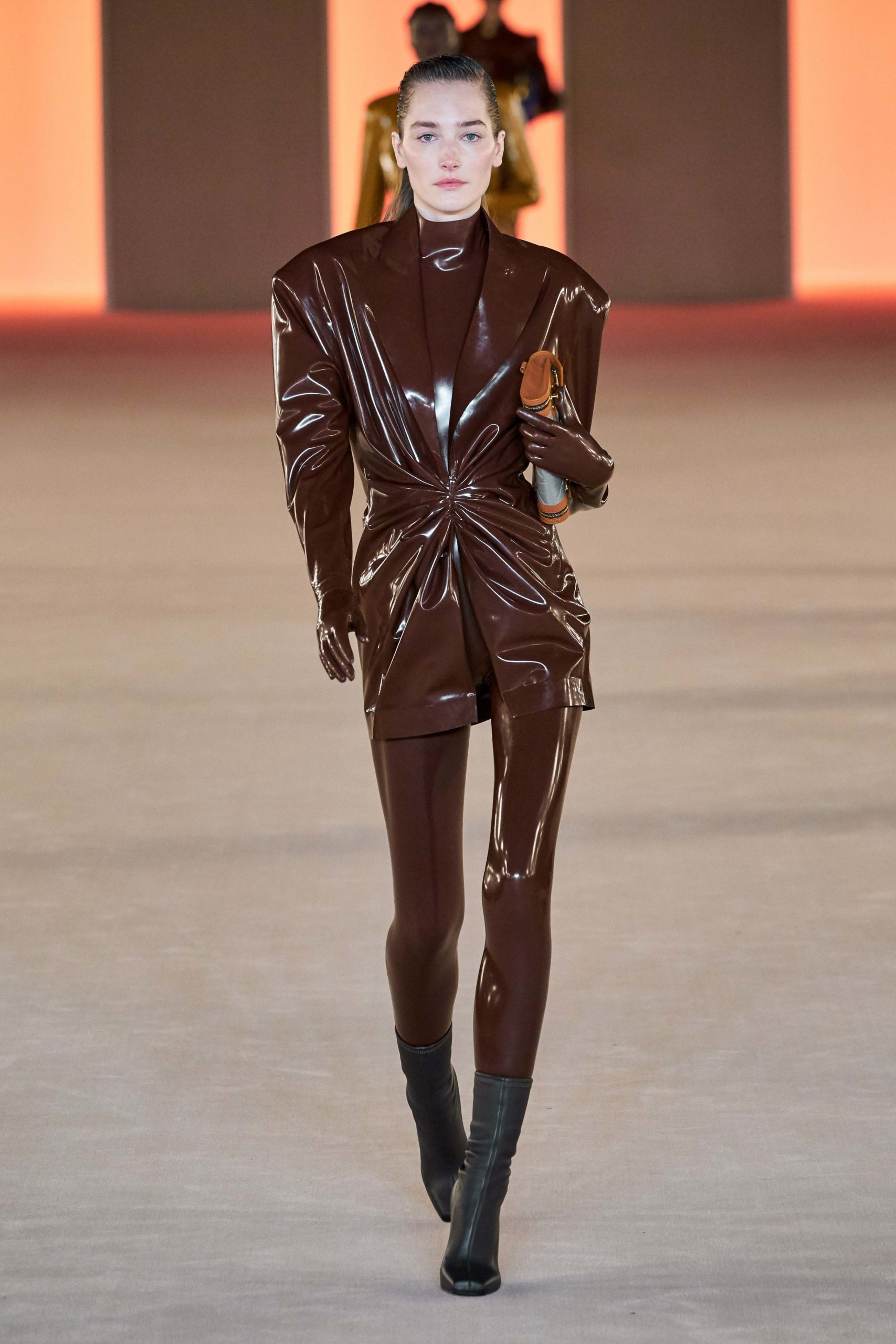Balmain Fall 2020 trends runway coverage Ready To Wear Vogue luster brown
