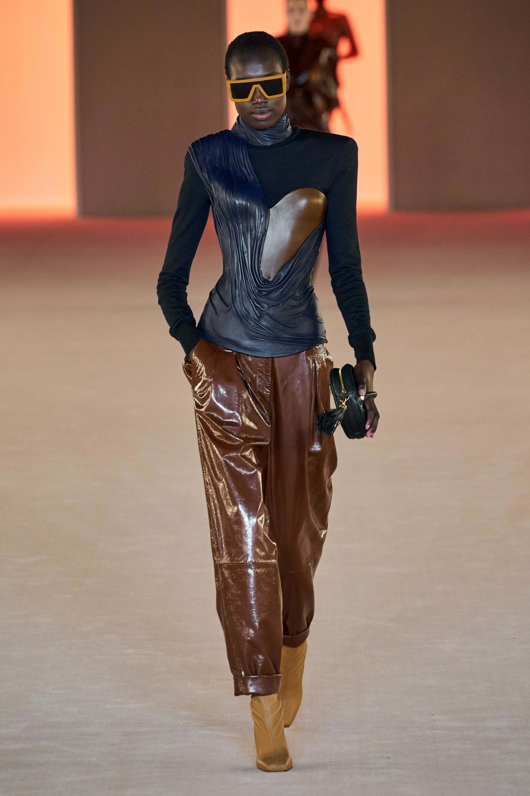 Balmain Fall Winter 2020 trends runway coverage Ready To Wear Vogue cut out luster glossy