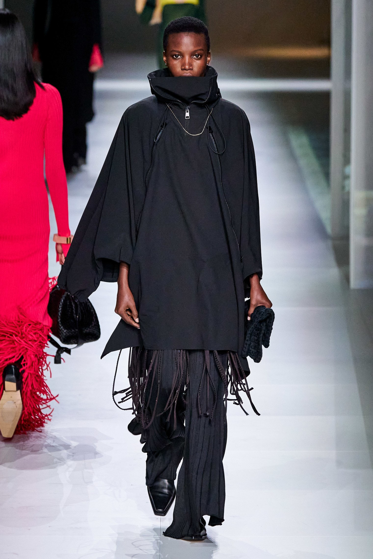 Bottega Veneta Fall 2020 trends runway report Ready To Wear Vogue cape and fringes