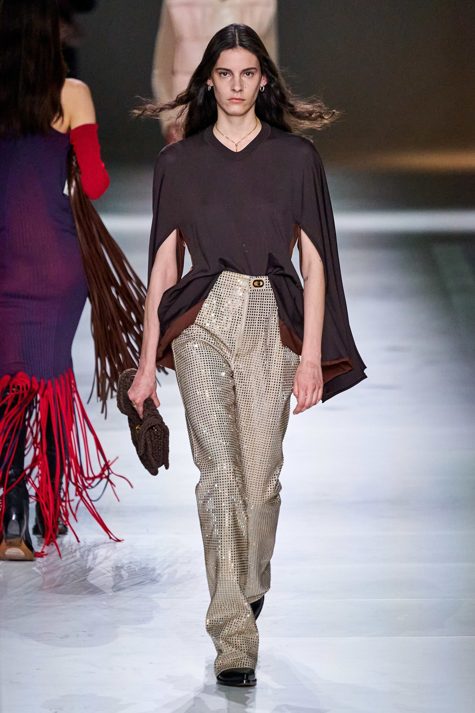 Bottega Veneta Fall 2020 trends runway report Ready To Wear Vogue top cape and glitter bold sleeves