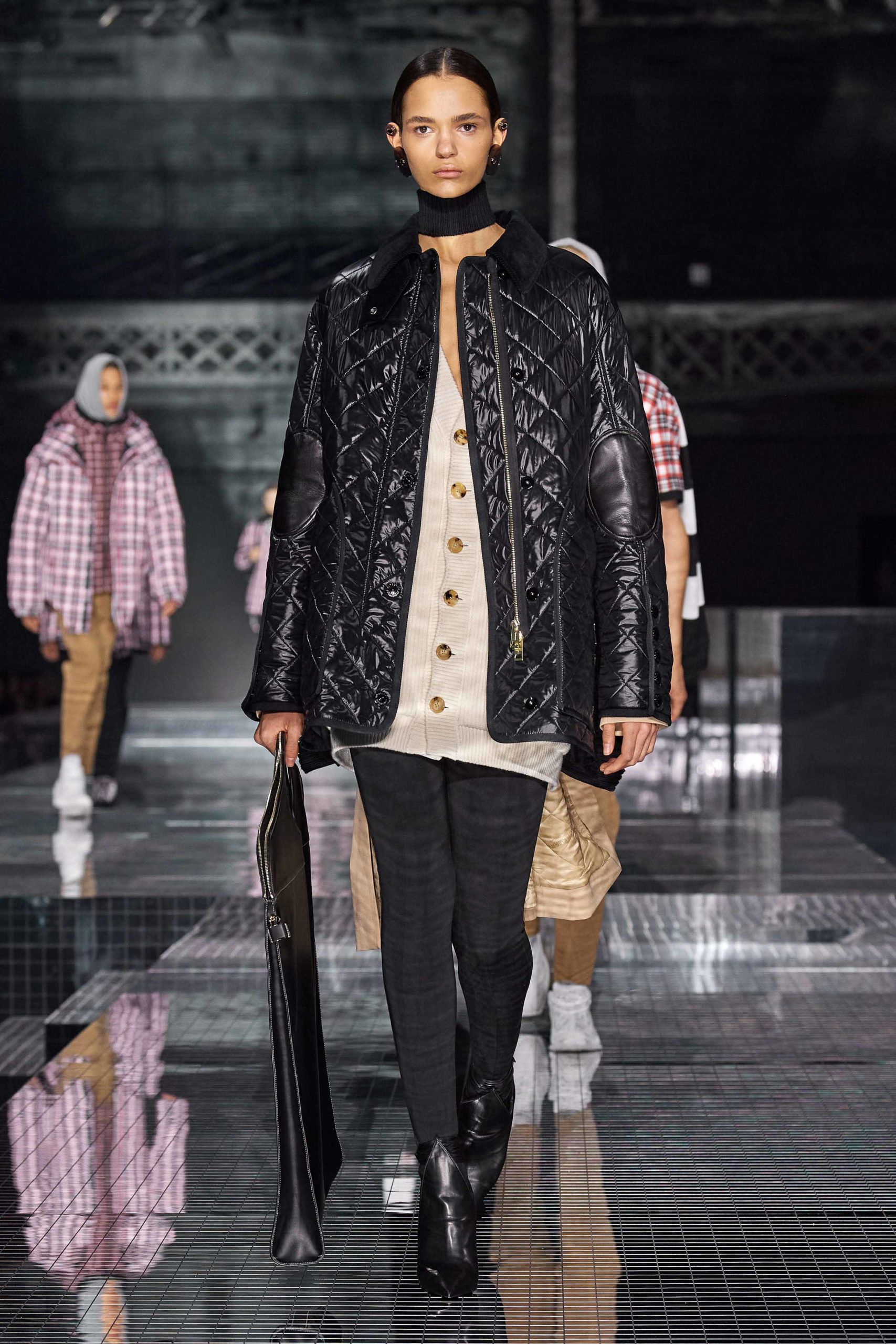 Burberry Fall 2020 trends runway report Ready To Wear Vogue waffle quilted