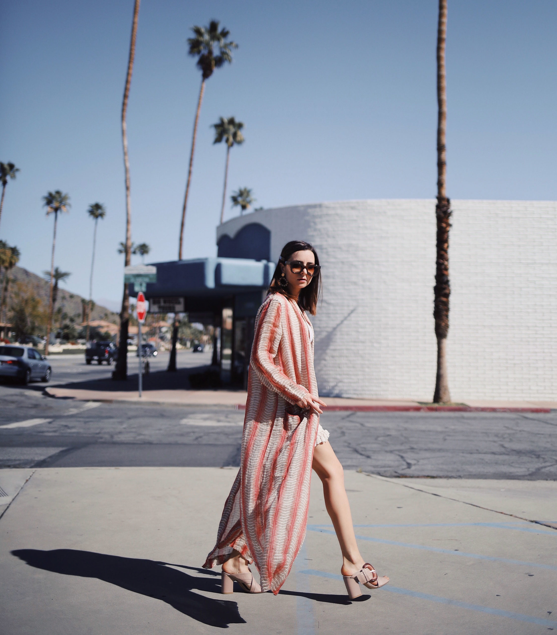 California Dreaming +california + road trip + los angeles + julia comil + modersvp + fashion + editorial + influencer + french + pomandere + robe + thierry lasry + sunglasses + AGL shoes + palm springs