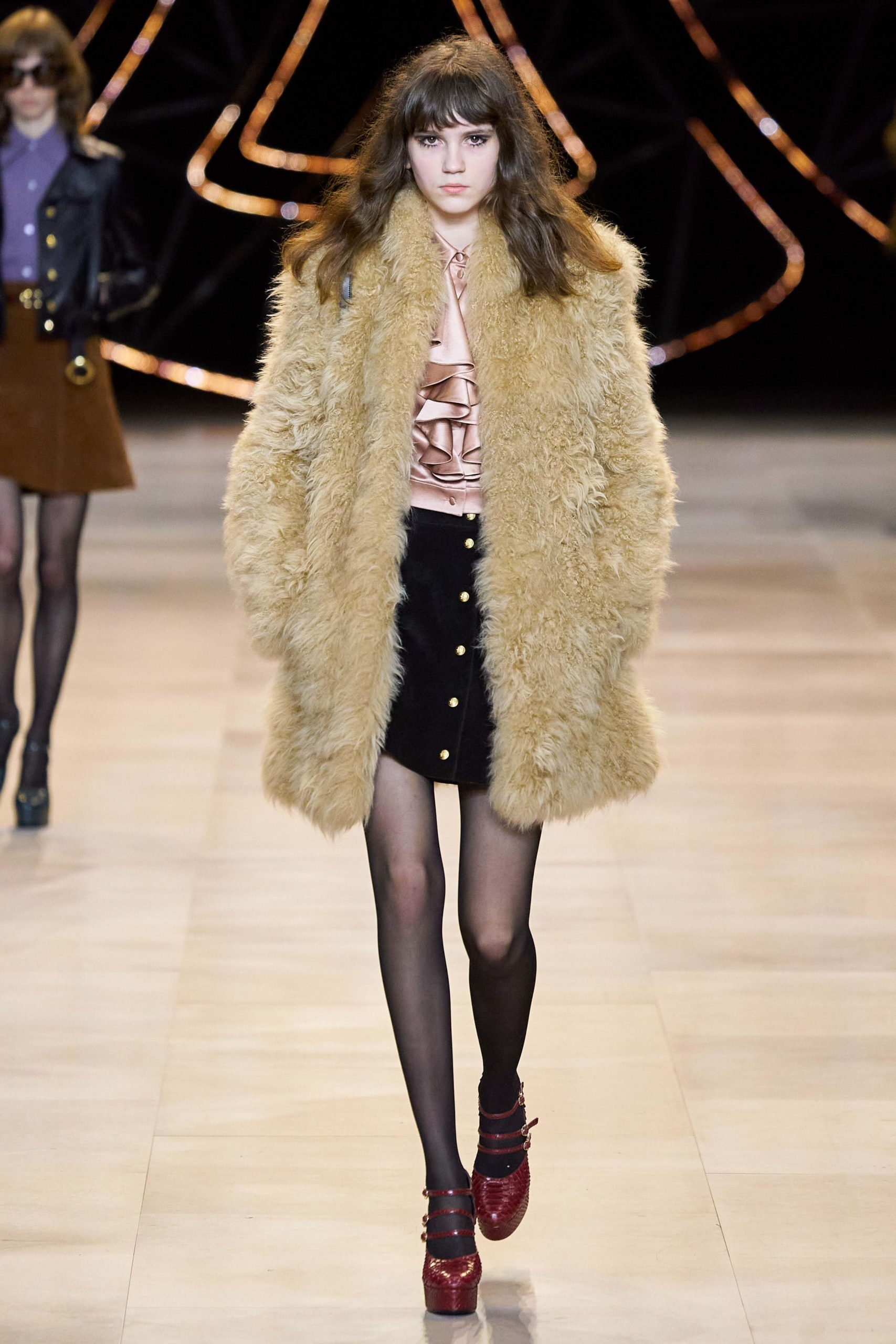 Celine Fall Winter 2020 trends runway coverage Ready To Wear Vogue shaggy