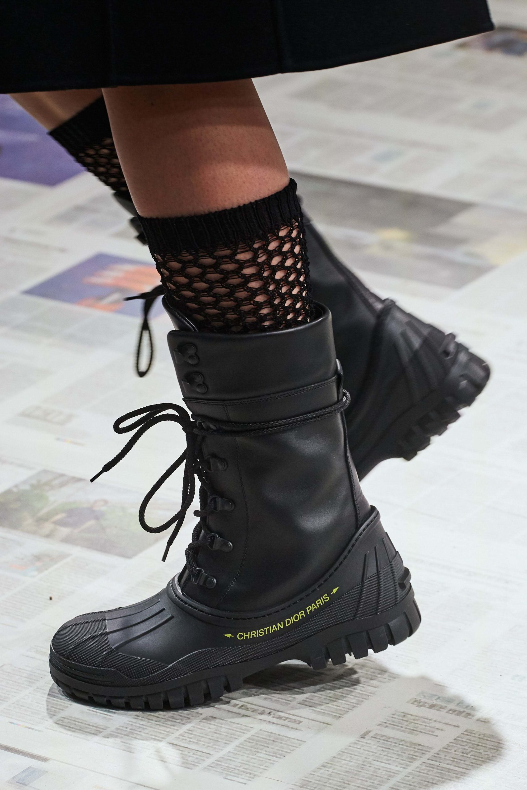 Dior Fall Winter 2020 trends runway coverage Ready To Wear Vogue details runway rubber rain boots fall 2020