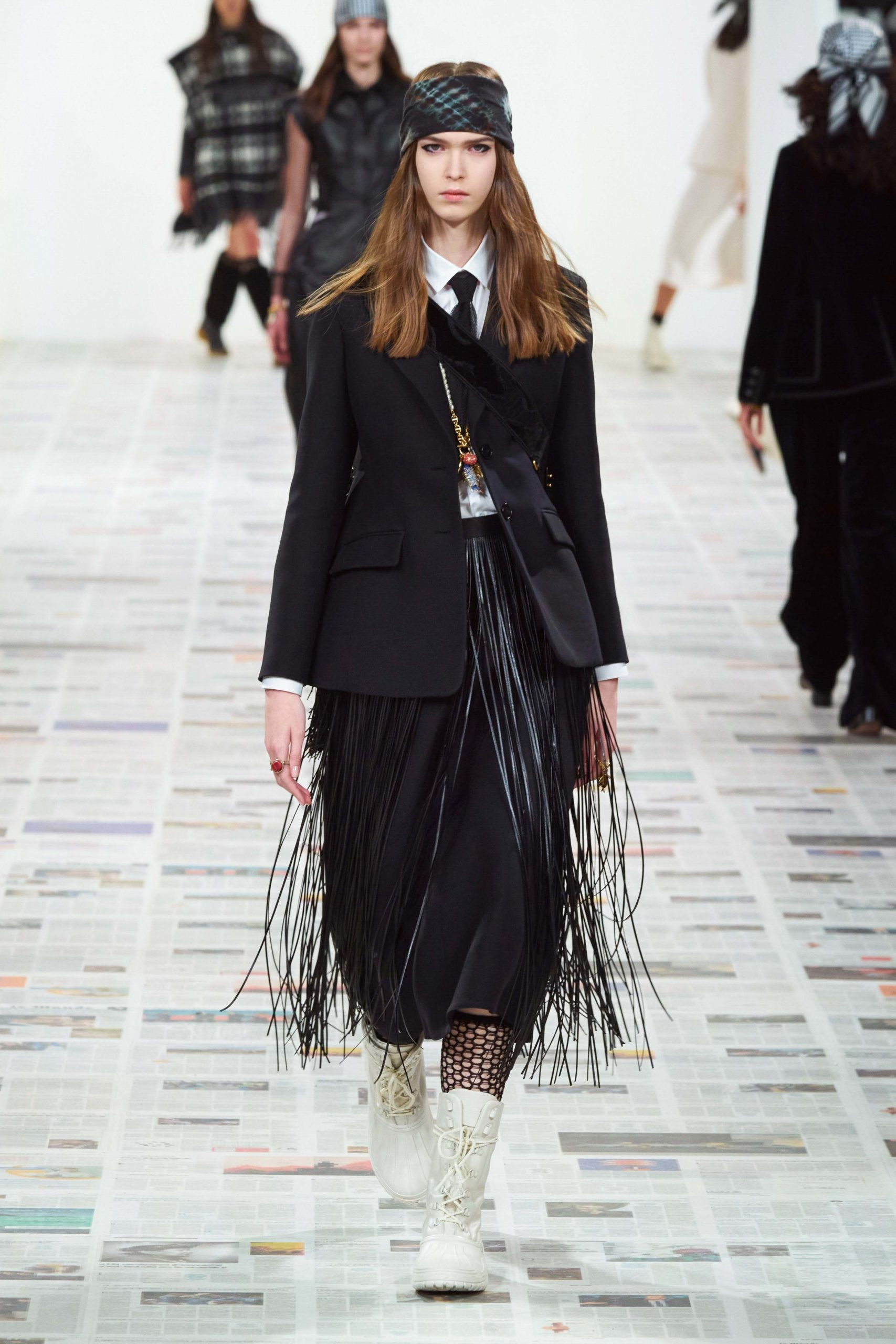Dior Fall Winter 2020 trends runway coverage Ready To Wear Vogue fringes