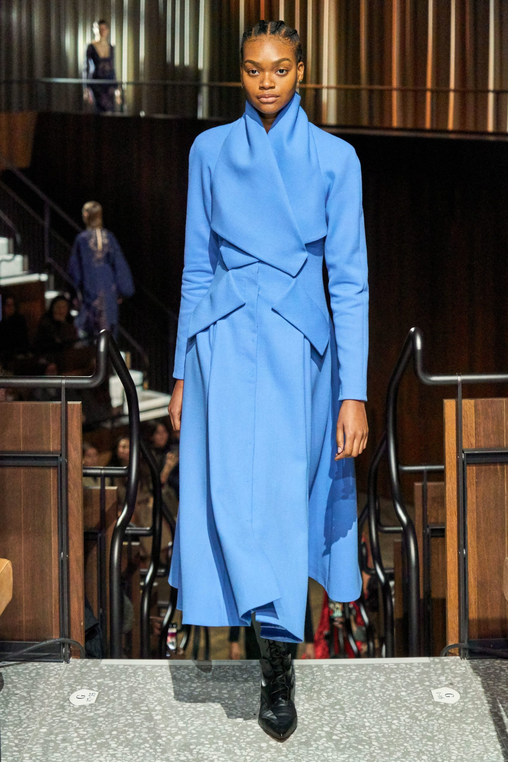 Emilia Wickstead Fall 2020 trends runway report Ready To Wear Vogue blue monochrome
