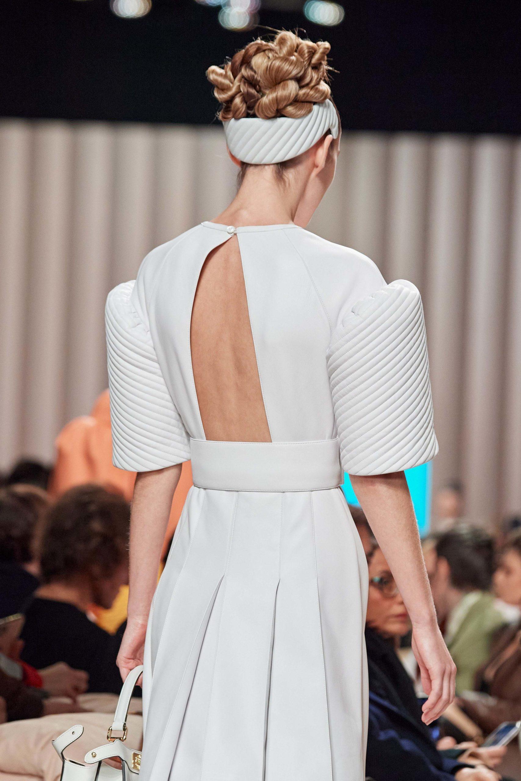 Fendi Fall 2020 trends runway report Ready To Wear Vogue back headband 1
