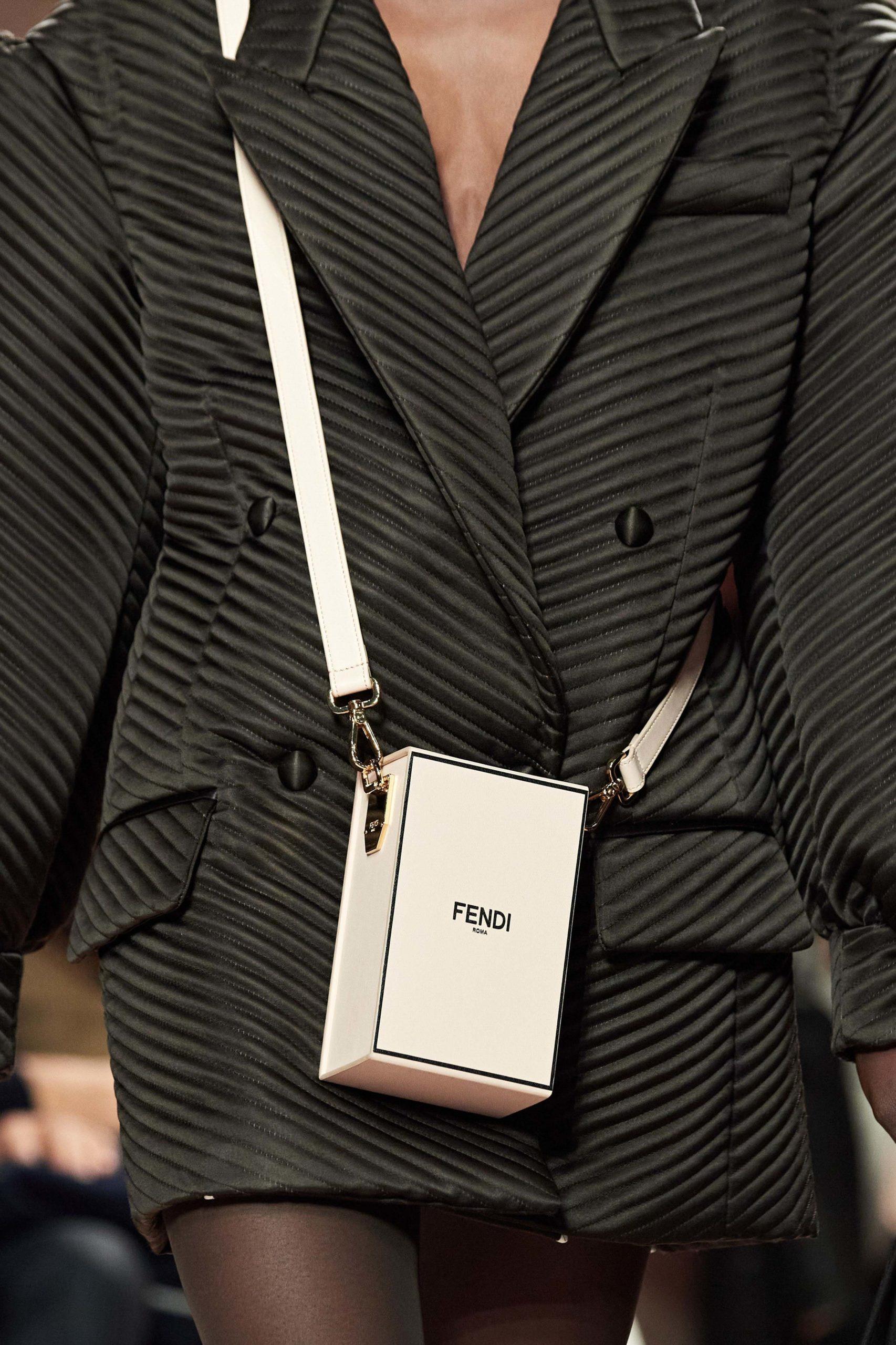 Fendi Fall 2020 trends runway report Ready To Wear Vogue fendi brown vintage feel. box bag