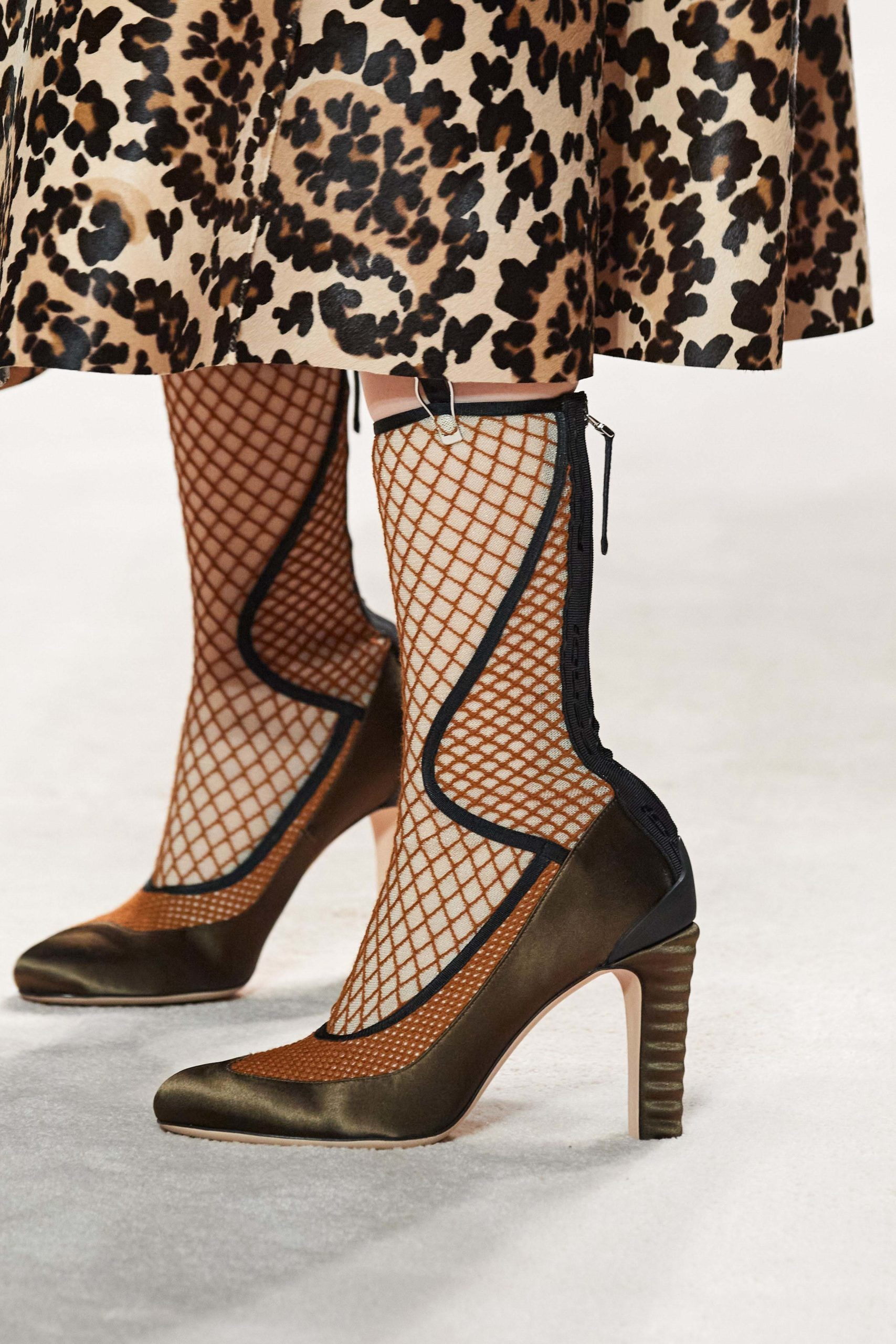 Fendi Fall 2020 trends runway report Ready To Wear Vogue fendi pumps mesh best of 2020 shoes